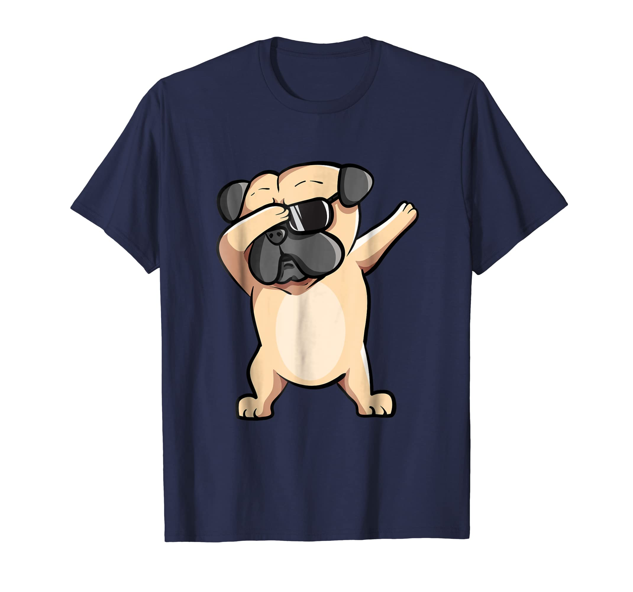 Cool Dabbing Pug Tee Shirt - Cute Funny Dog Dab T-Shirt-AZP