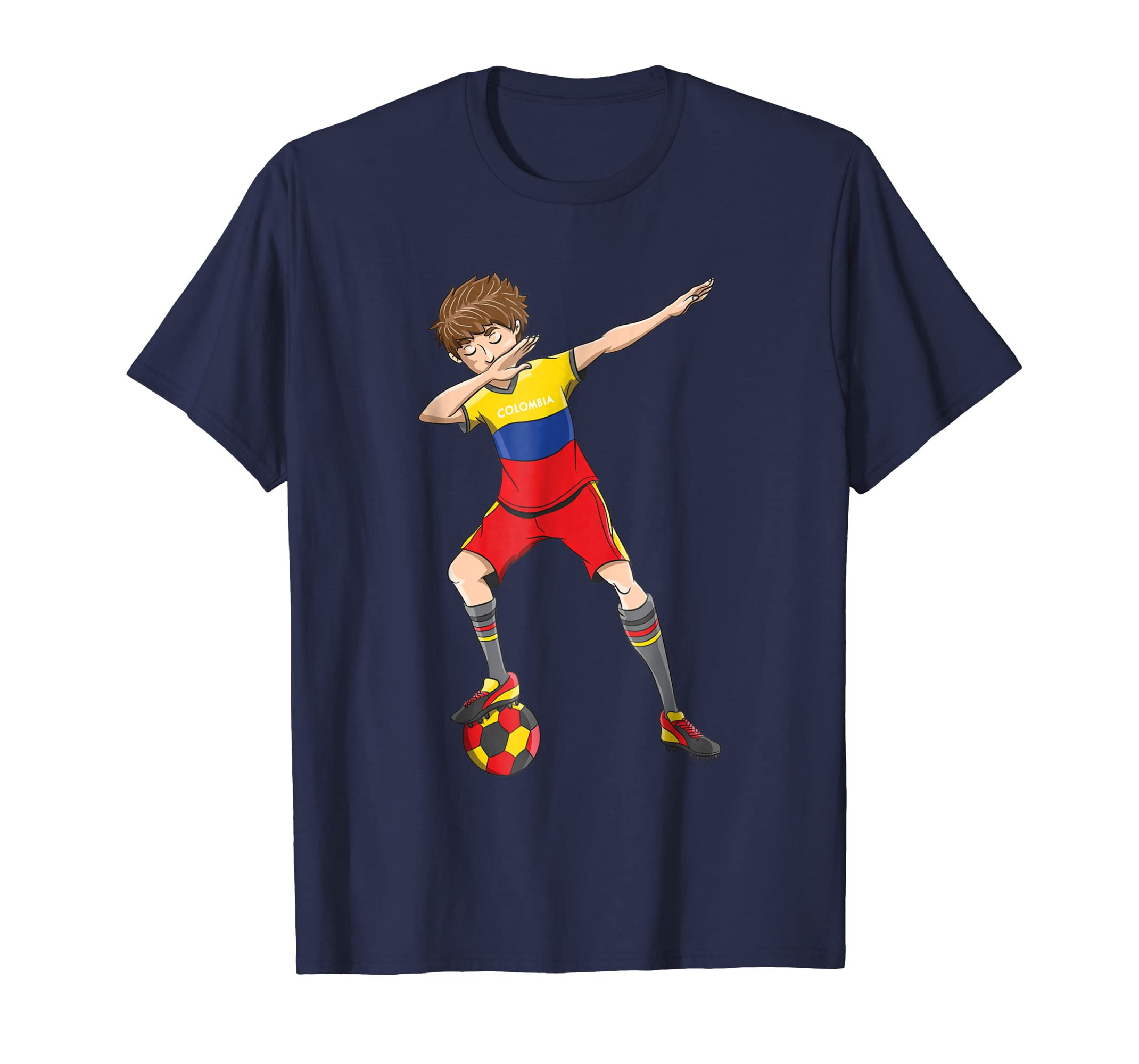 Dabbing Soccer Boy Colombia Jersey Shirt Colombian Football-alottee gift