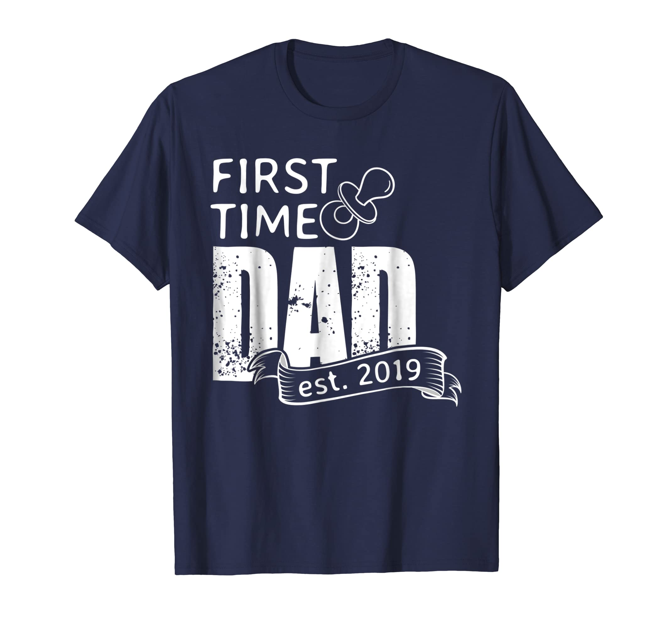 412c2d6a Amazon.com: Mens First Time Dad Est. 2019 Shirts New Daddy Father to Be Gift:  Clothing