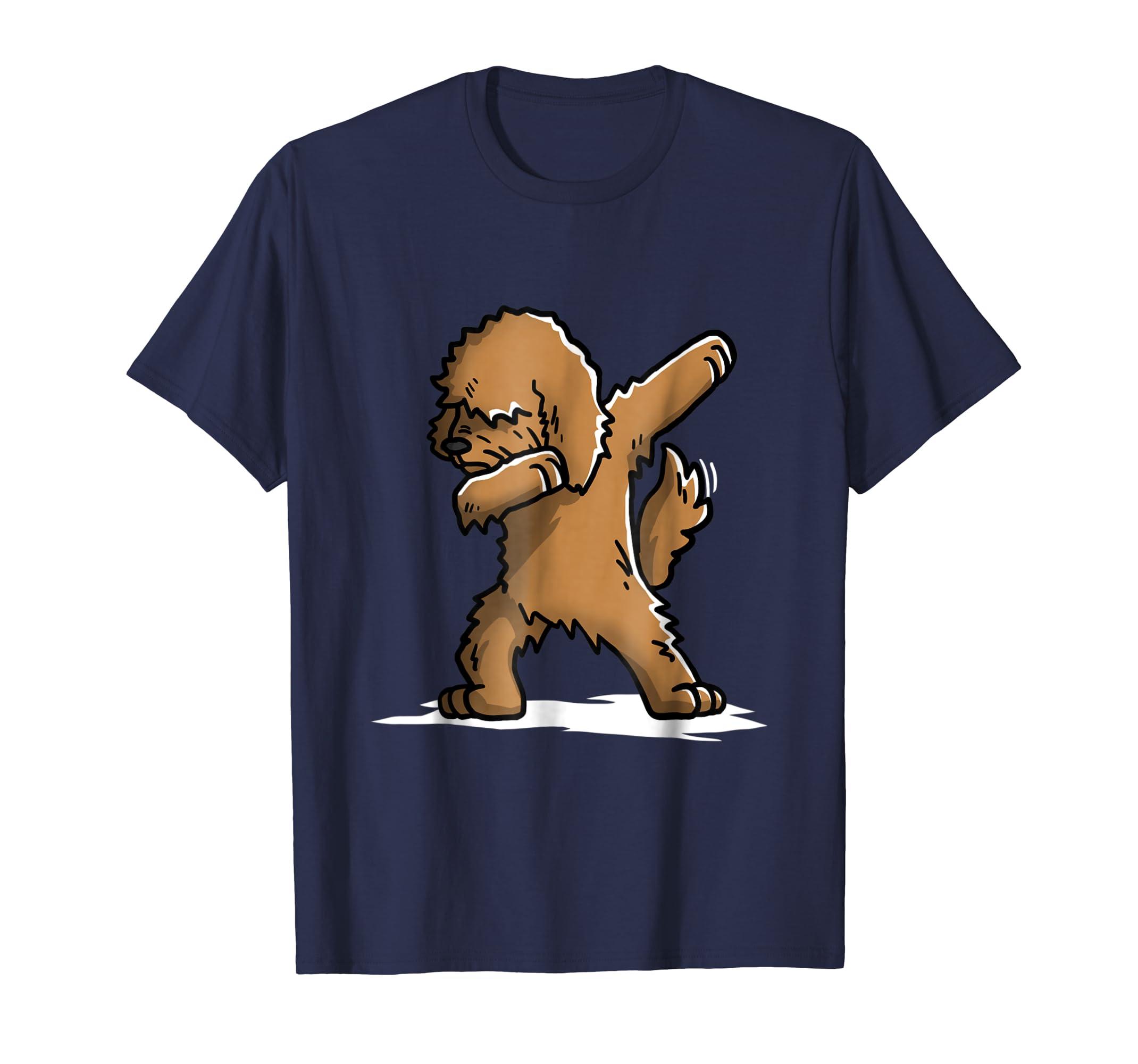 Funny Dabbing Goldendoodle Dog T Shirt Dab Dance Gift Shirt-azvn