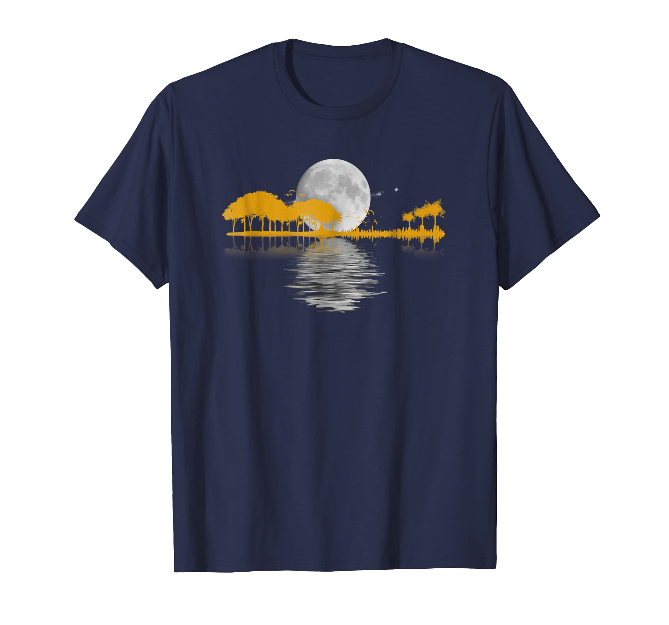 Guitar T Shirt. Retro Nature Shirt, Vintage Gift For Men-azvn