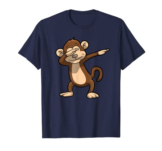817db7e3 Image Unavailable. Image not available for. Color: Funny Dabbing monkey  shirt - perfect gift for kids
