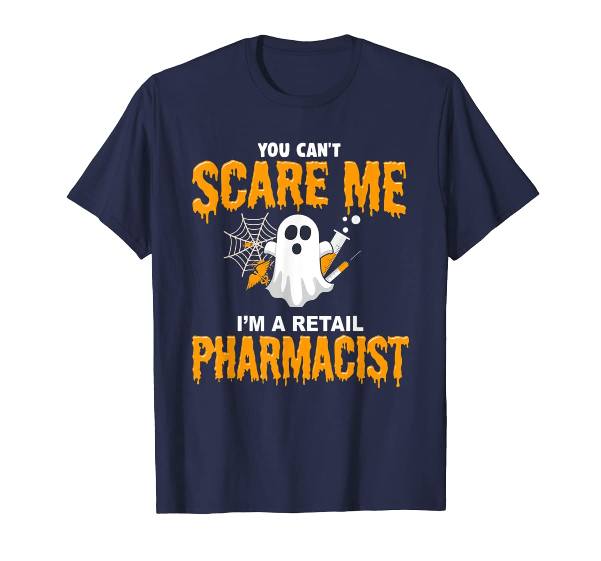 Halloween Costume Shirt I'm A Retail Pharmacist T-Shirt-Men's T-Shirt-Navy