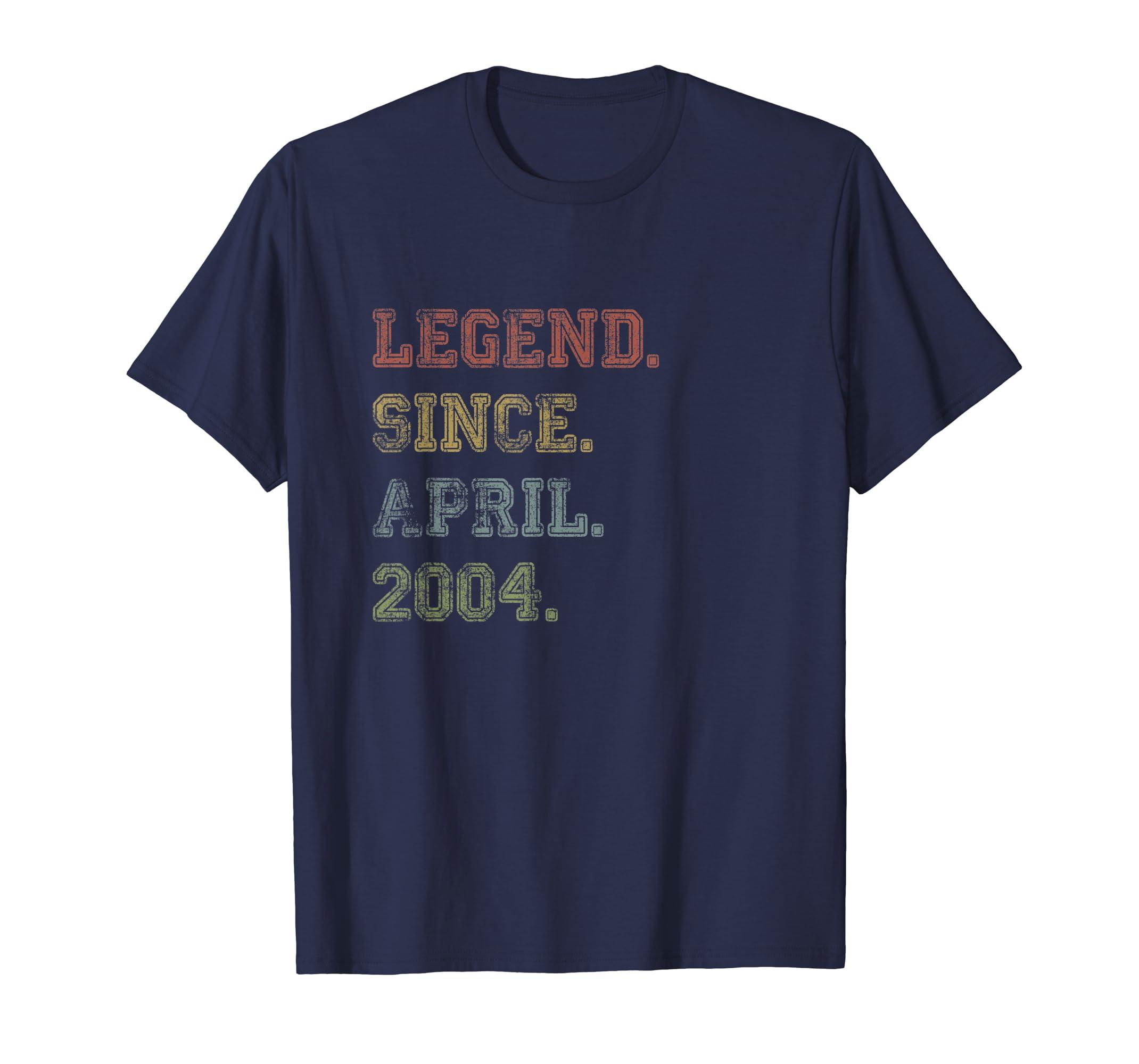 Legend Since April 2004 15th Birthday 15 Years Old TShirt-ANZ