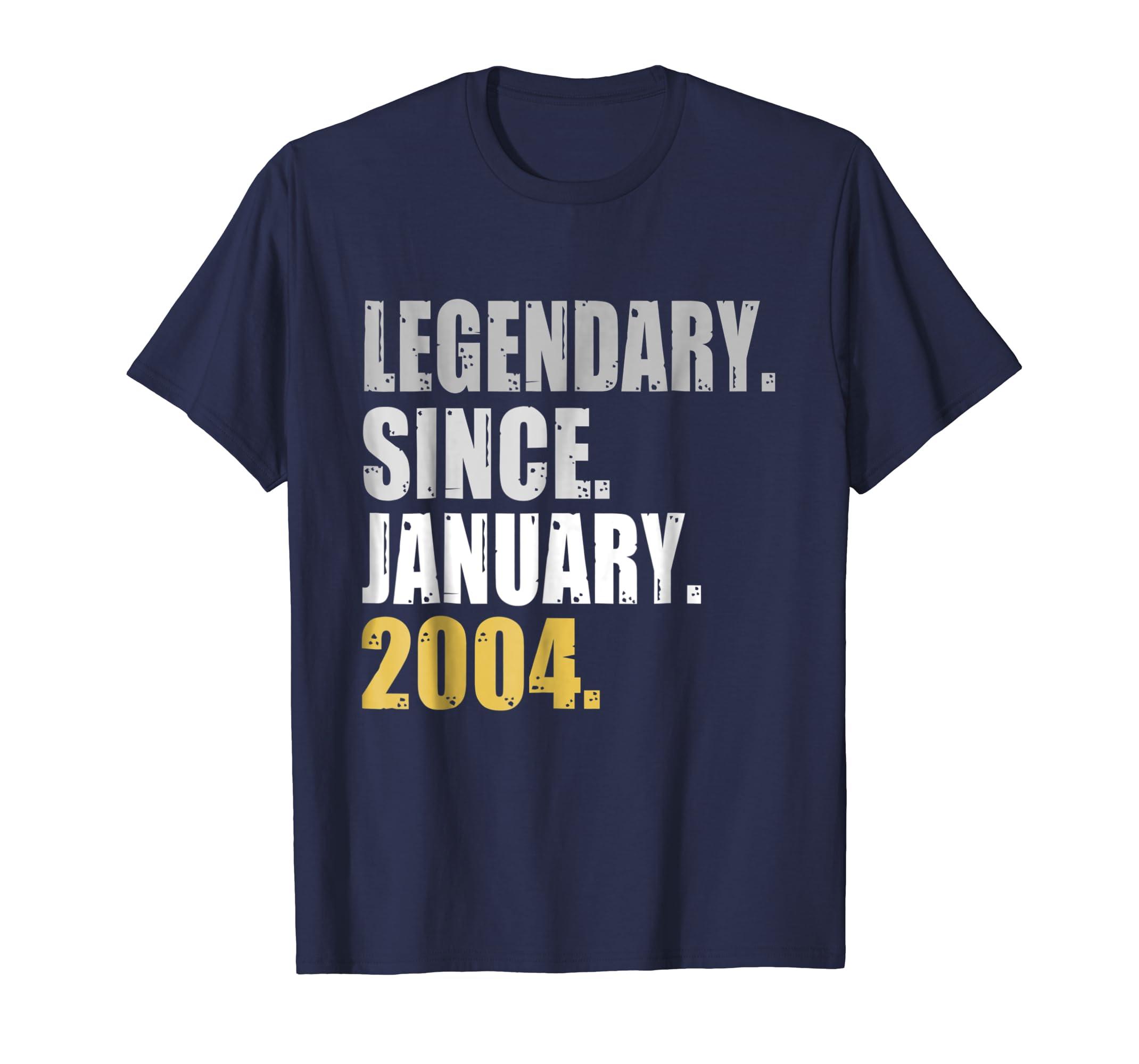 15th Birthday Gifts Legendary Since January 2004 T Shirt-azvn