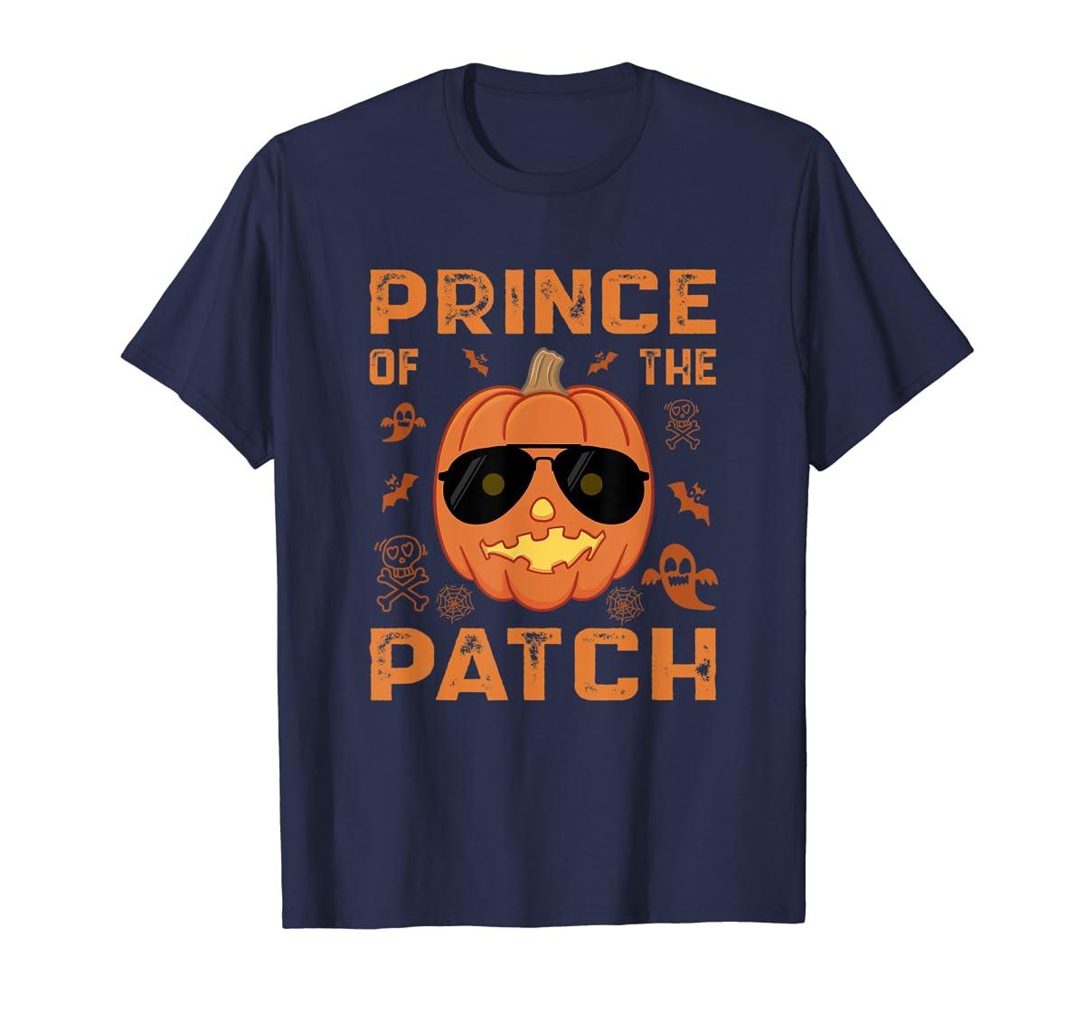 Pumpkin Prince of the Patch Group Family Halloween Costume T-Shirt-Men's T-Shirt-Navy