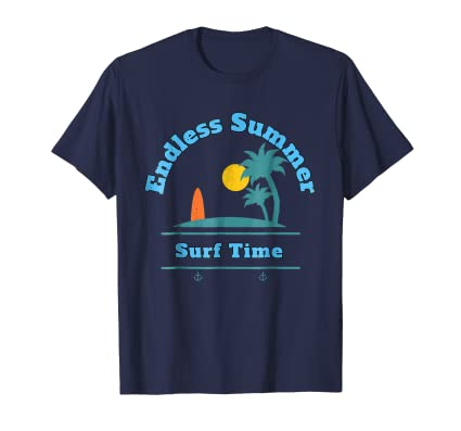 Endless Summer Surf Time Board and horizon lifestyle T Shirt