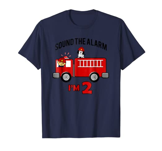 b796a9230 Image Unavailable. Image not available for. Color: Birthday 2 Year Old Fire  Fighter Truck Shirt | FireTruck Tee
