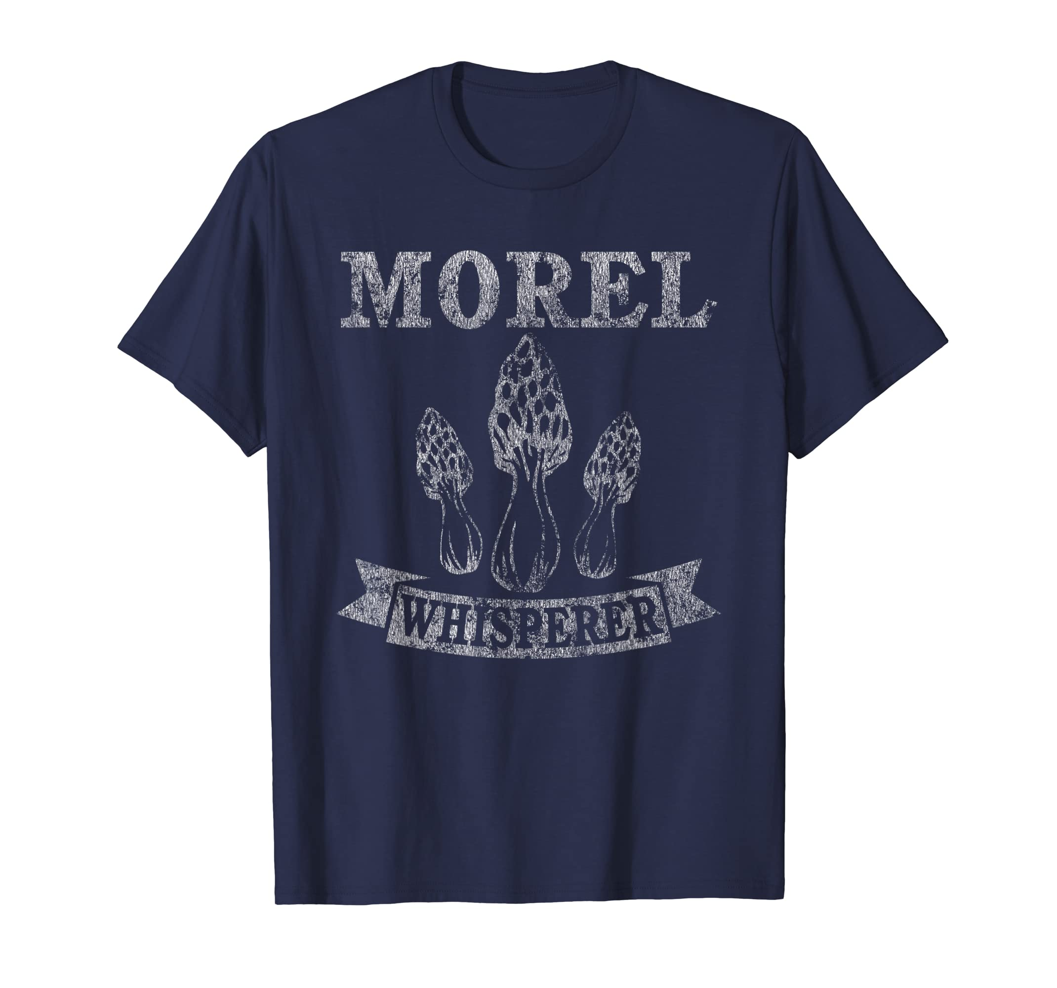 Morel Mushroom Whisperer Funny Distressed T-Shirt-Yolotee