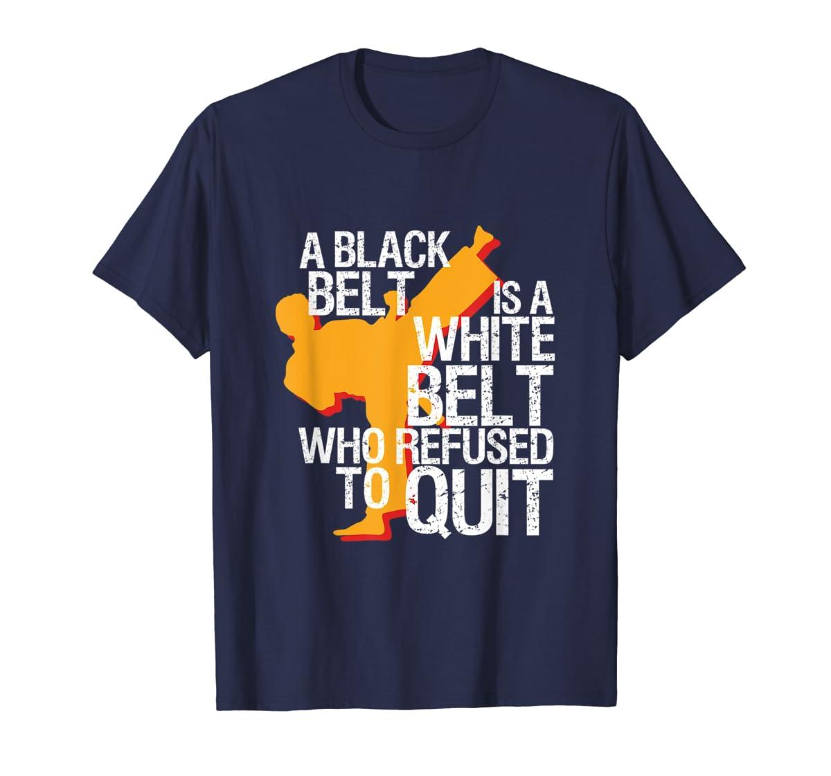 Taekwondo and Karate Black Belt Martial Art Student T-shirt-Men's T-Shirt-Navy