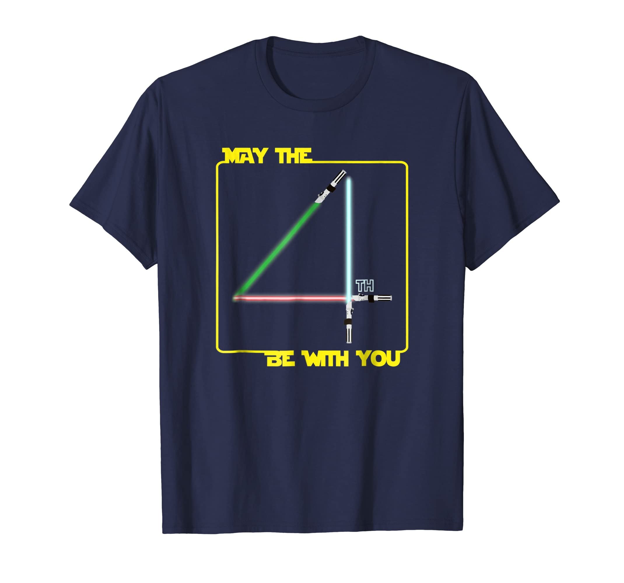May The 4th Be With U You, Fourth, Funny SciFi Movie T-Shirt-anz