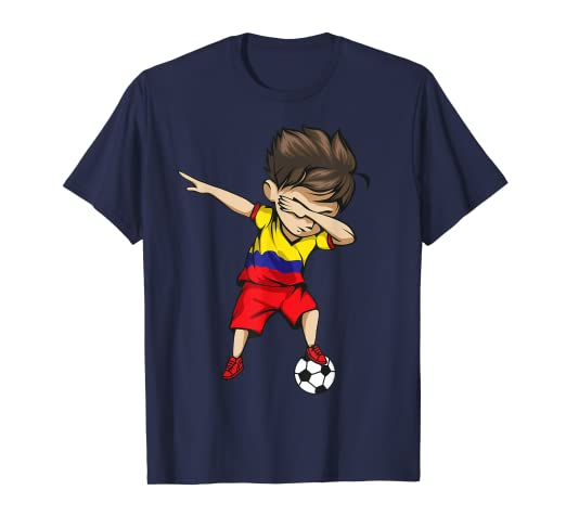 01657a57dc74d Dabbing Soccer Boy Colombia Jersey Shirt Colombian Football