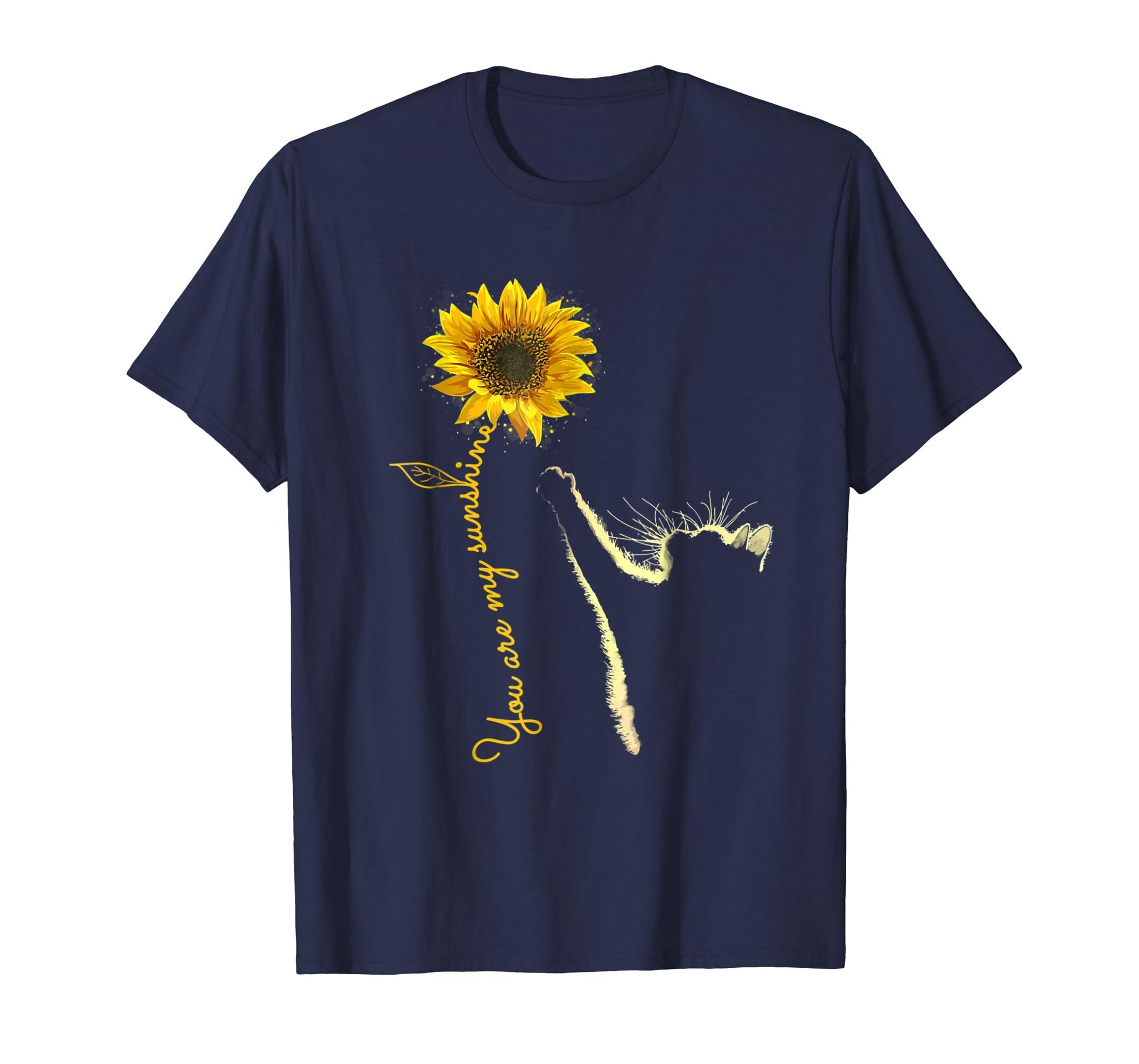 You Are My Sunshine Sunflower Cat Shirt-azvn