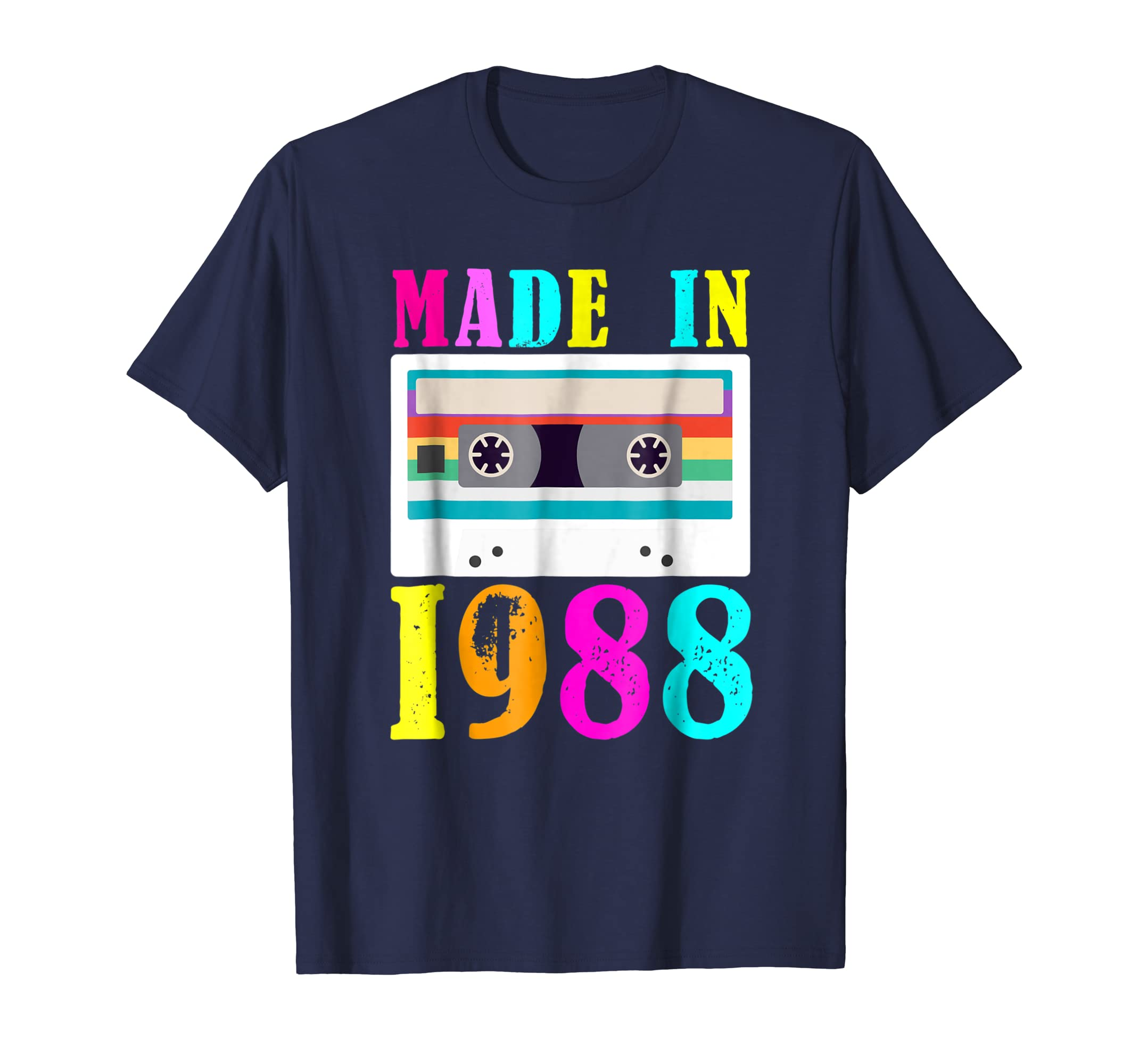 I Love 80s Tees Made In 1988 Retro Vintage Neon T Shirt-Teehay