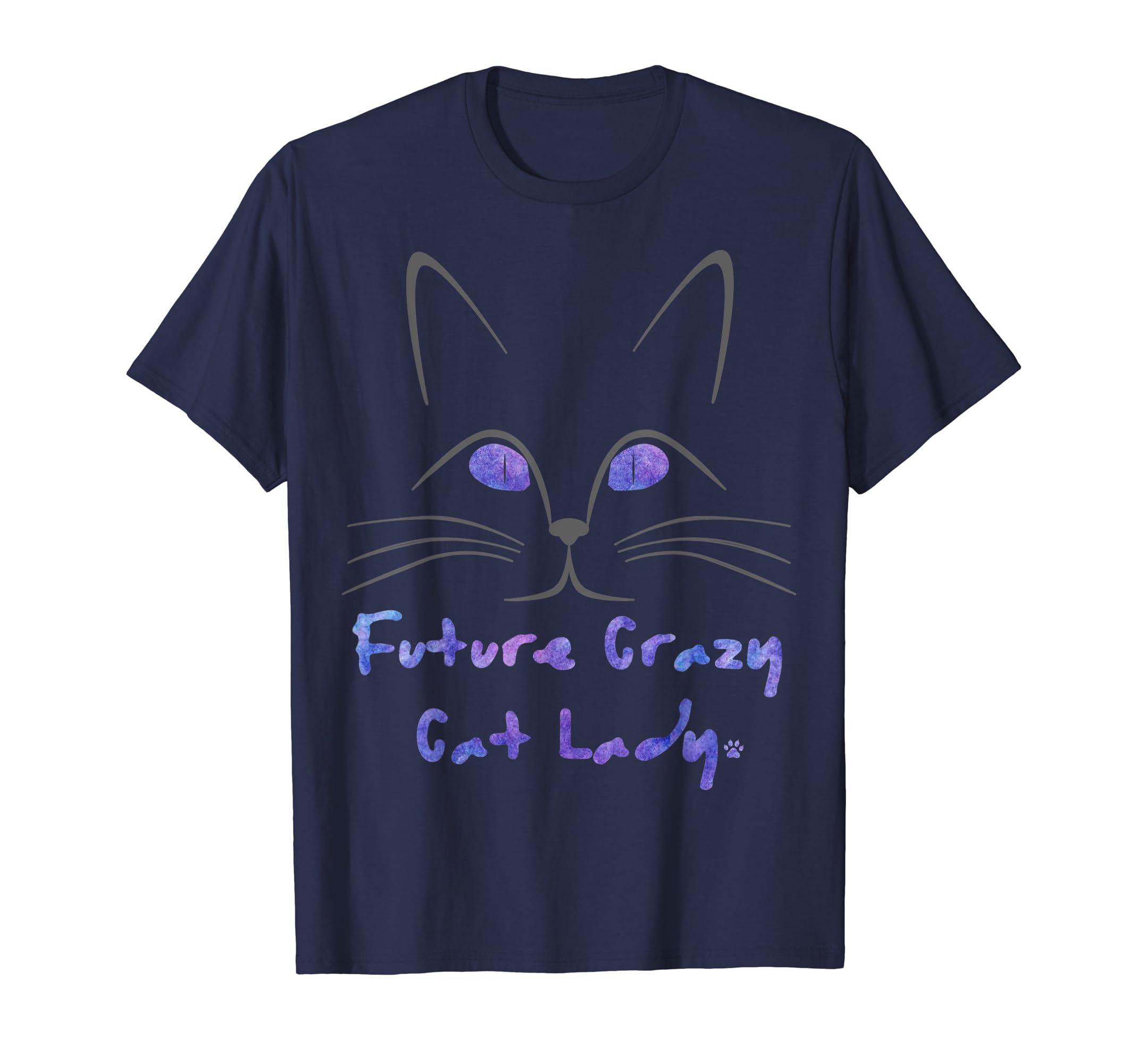 Future Crazy Cat Lady T shirt-azvn