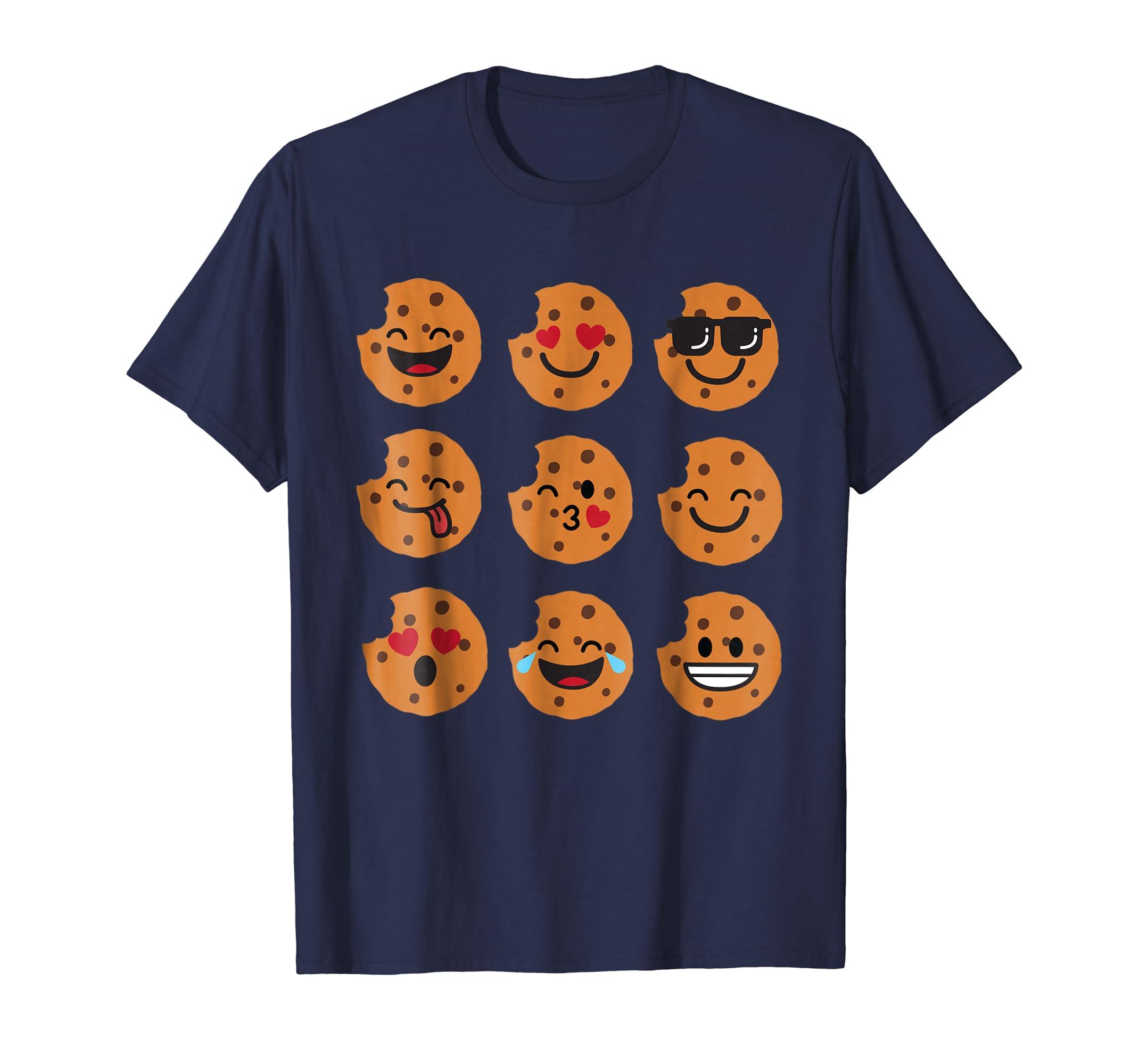 Cookie Emoji Smiley Funny Christmas Shirt Gift-azvn