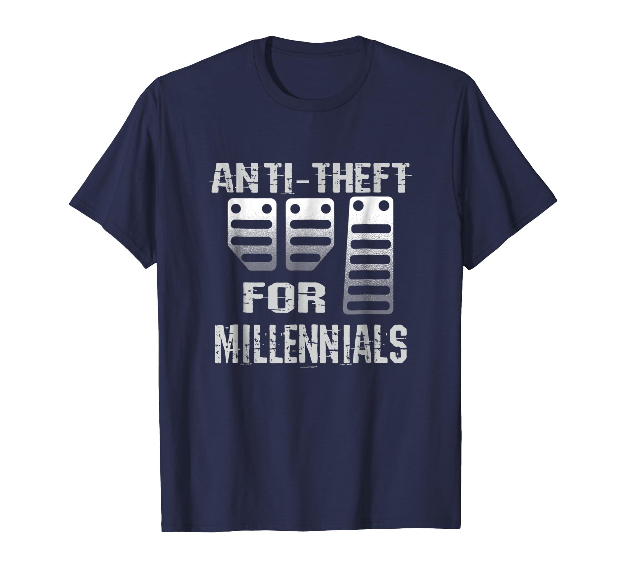 Anti Theft For Millennials 3 Pedals Stick Shift Manual Shirt-azvn