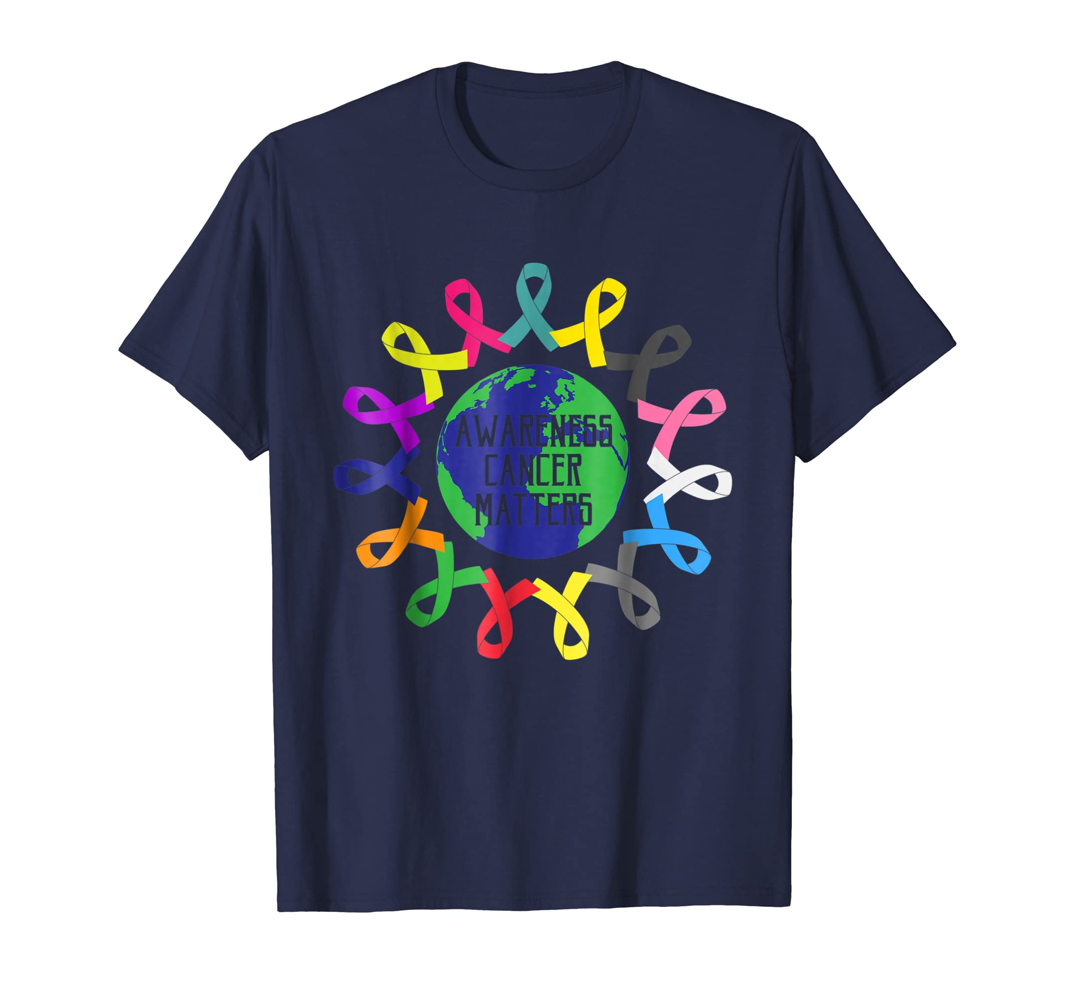 All Cancer Ribbons Awareness Matters In the World T Shirt-azvn