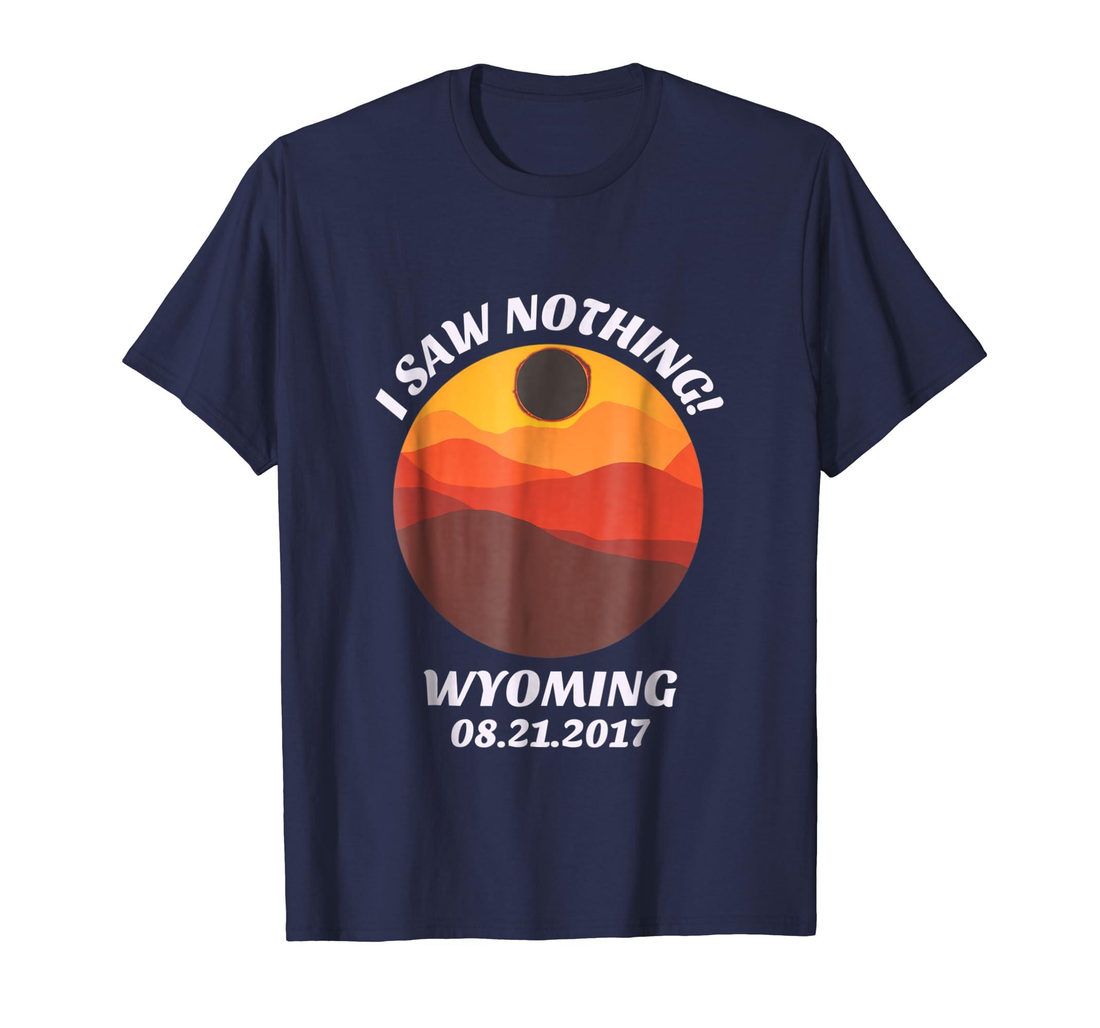 Amazon Com Funny Wyoming Solar Eclipse T Shirt Teton Retro Shirt