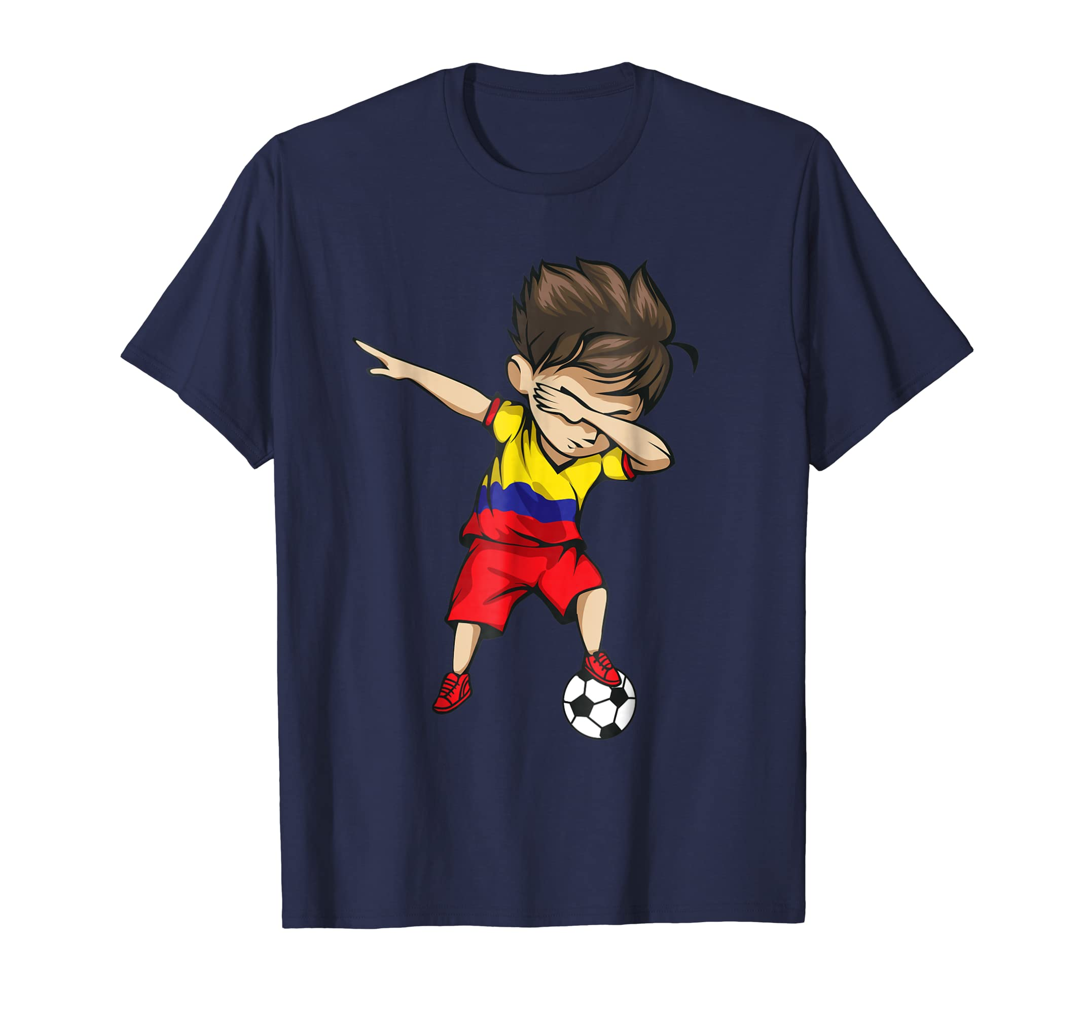 666b16cf0 Dabbing Soccer Boy Colombia Jersey Shirt Colombian Football-prm – Paramatee
