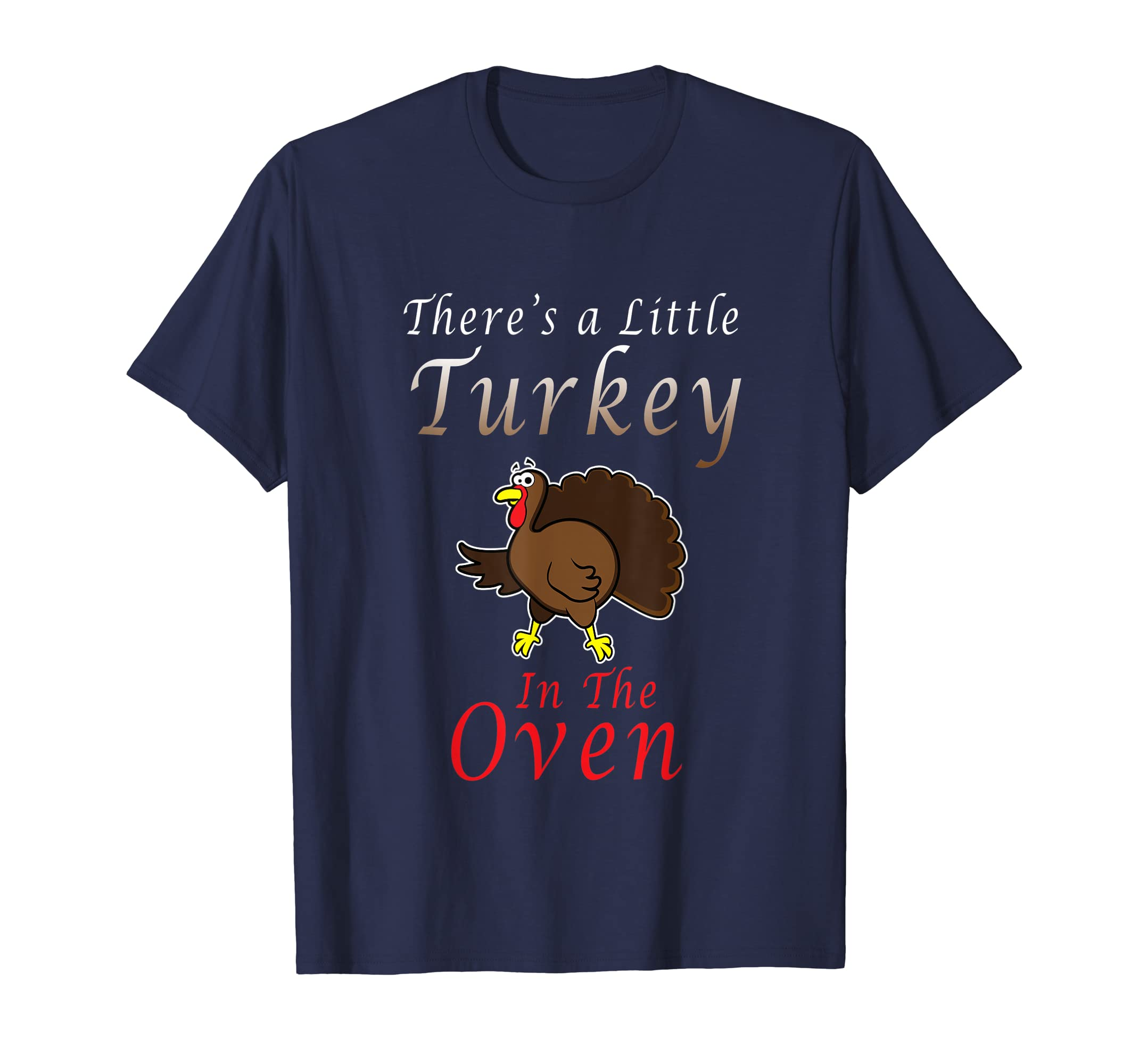 44324734f Amazon.com: Thanksgiving Maternity Shirt There's a Little Turkey in this:  Clothing
