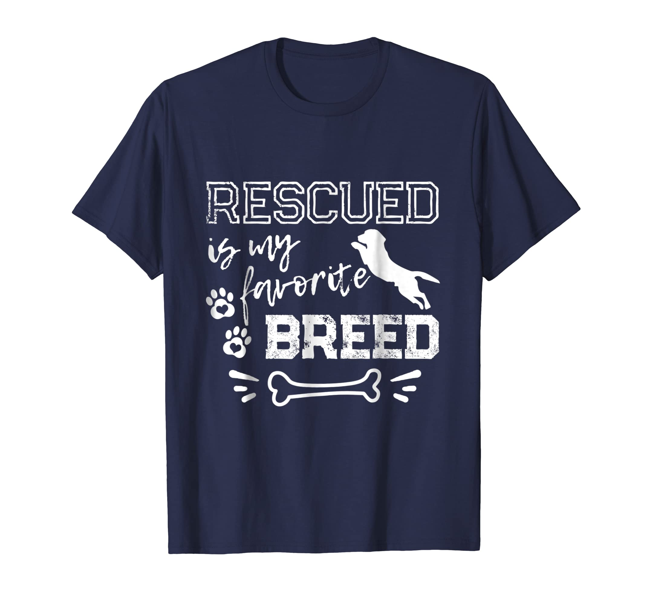 Rescued is My Favorite Breed T-Shirt Rescue Dog Shirt-AZP