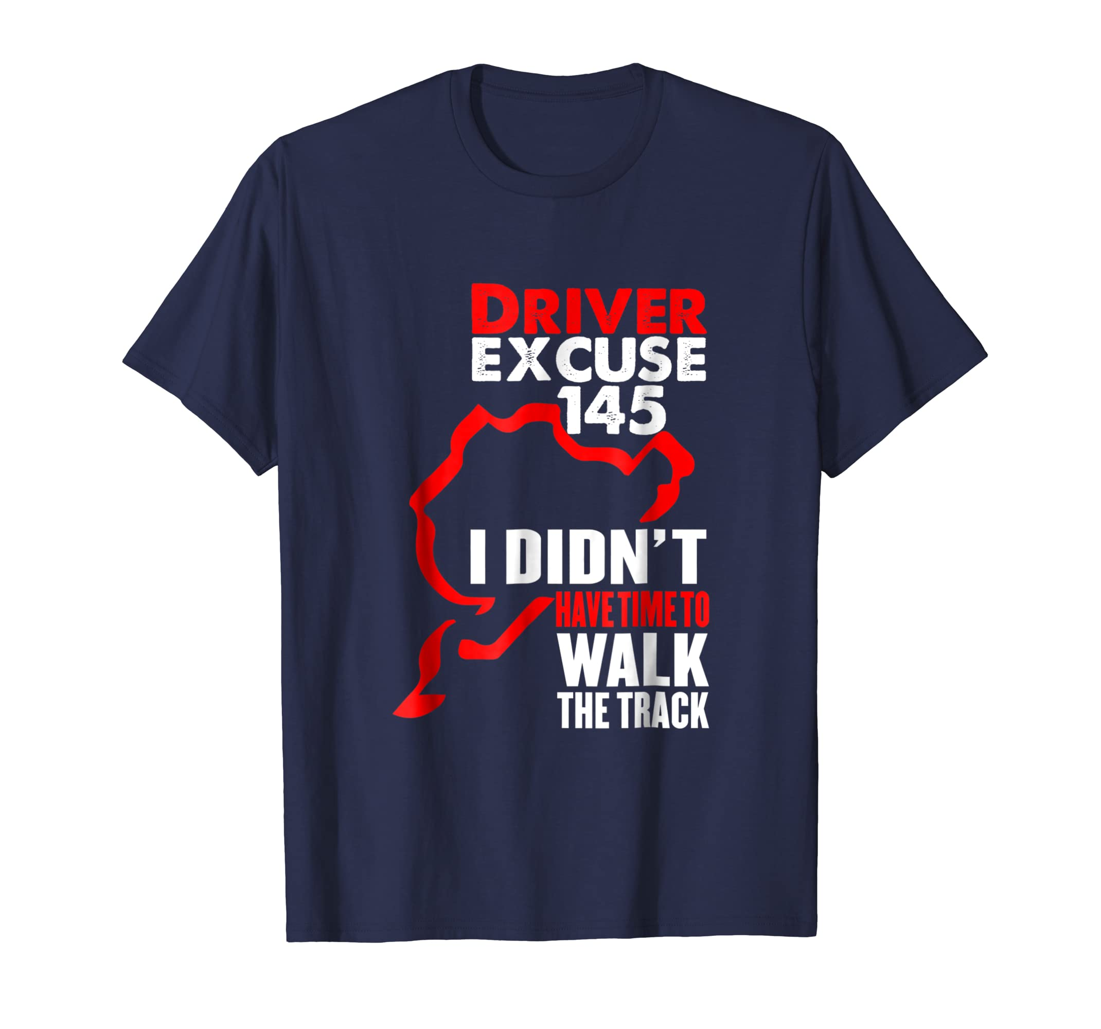 Racing driver excuses tee shirt time to walk the track-azvn