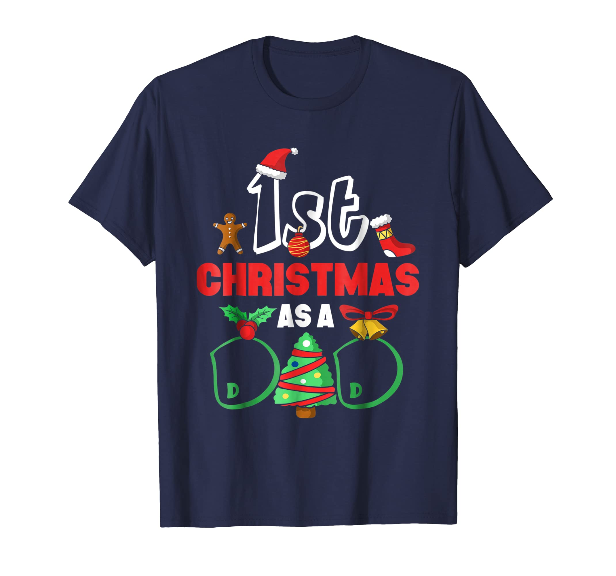 1st Christmas T Shirt Xmas Gift For New Daddy 2019-azvn