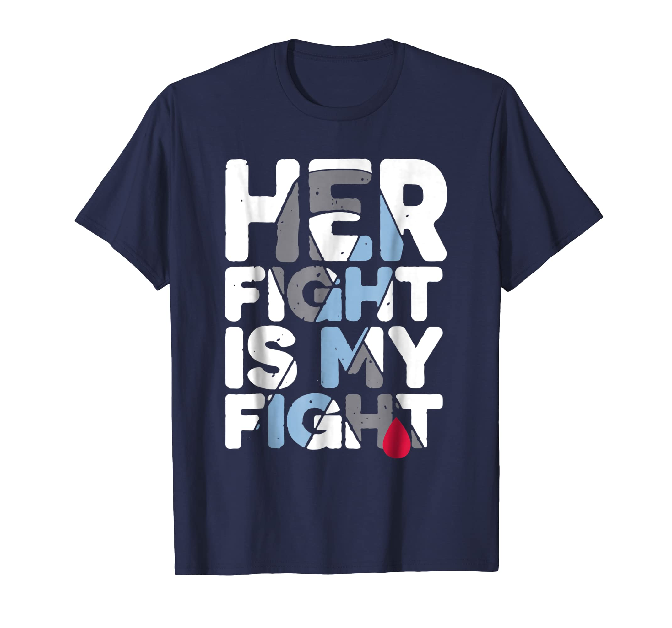 Her Fight Is My Fight Shirt Support Diabetes Month-azvn