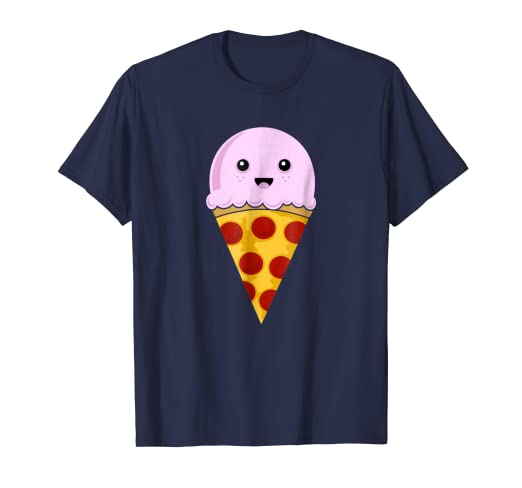 d47c282d Image Unavailable. Image not available for. Color: Cute Kawaii Ice Cream Pizza  Slice T-shirt