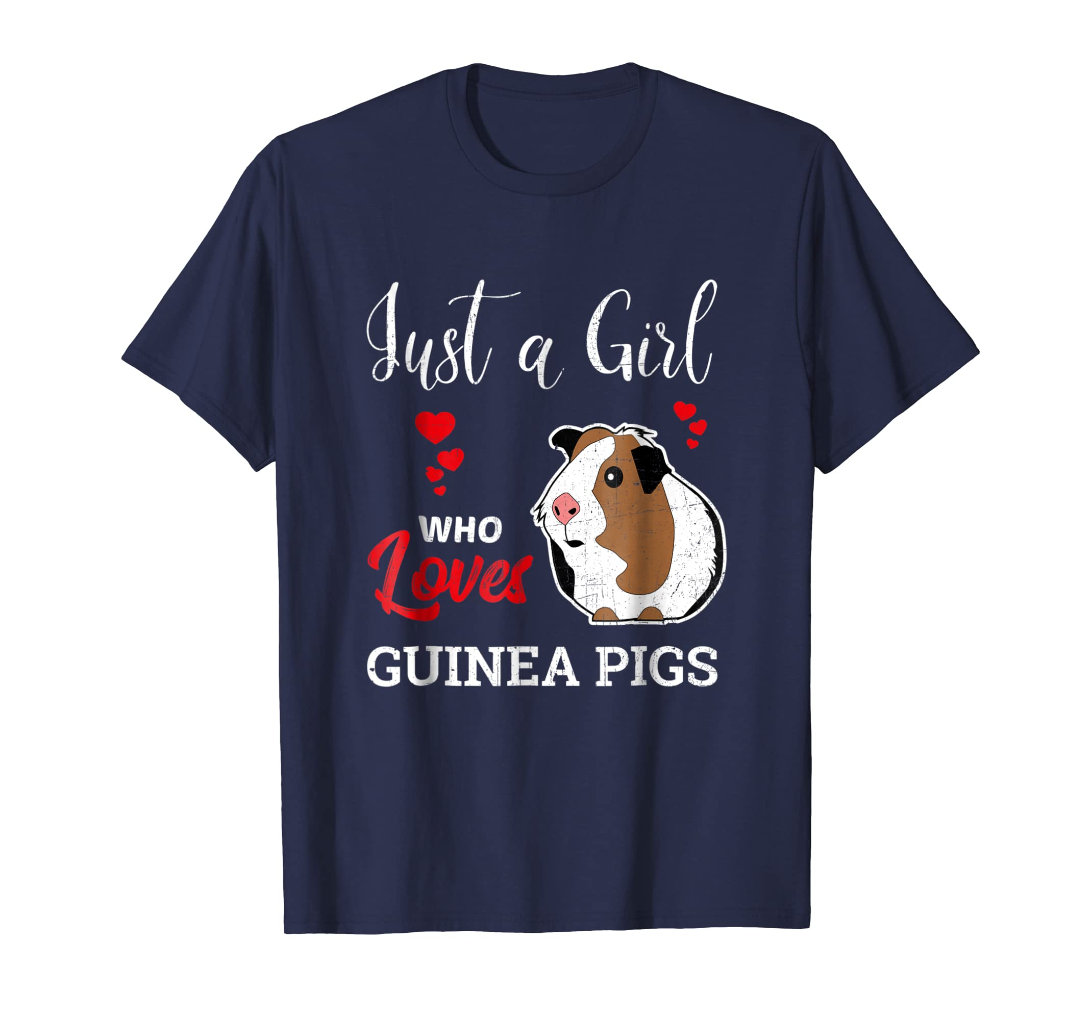 Just a Girl Who Loves Guinea Pigs - Funny Animal T-Shirt-AZP
