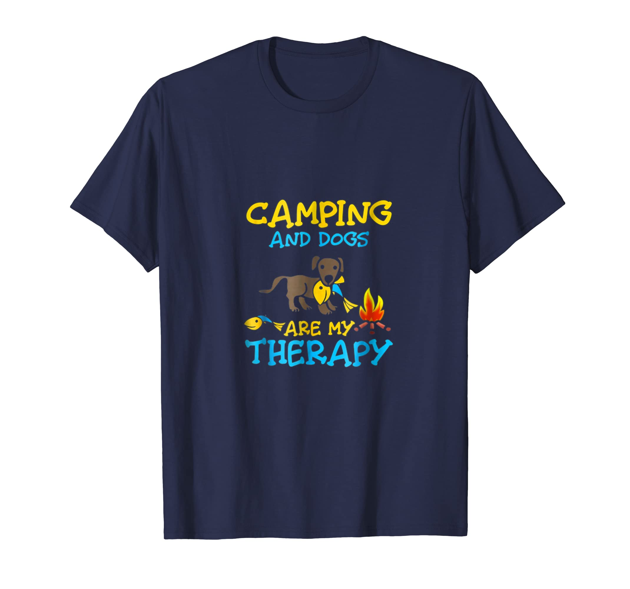 Camping and dogs are my therapy Shirt-AZP