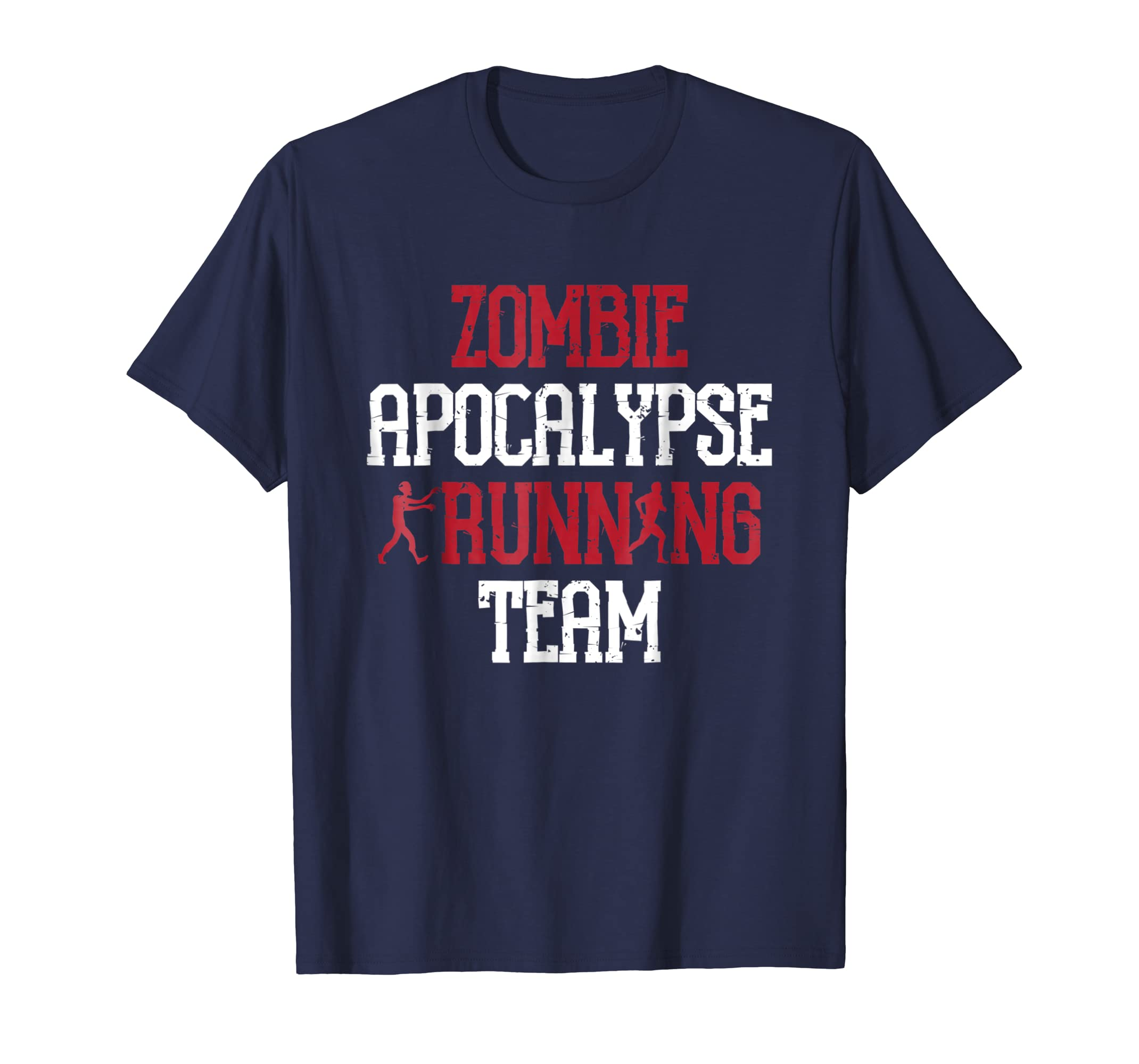 Zombie Apocalypse Running Team Funny Halloween T-Shirt-Rose