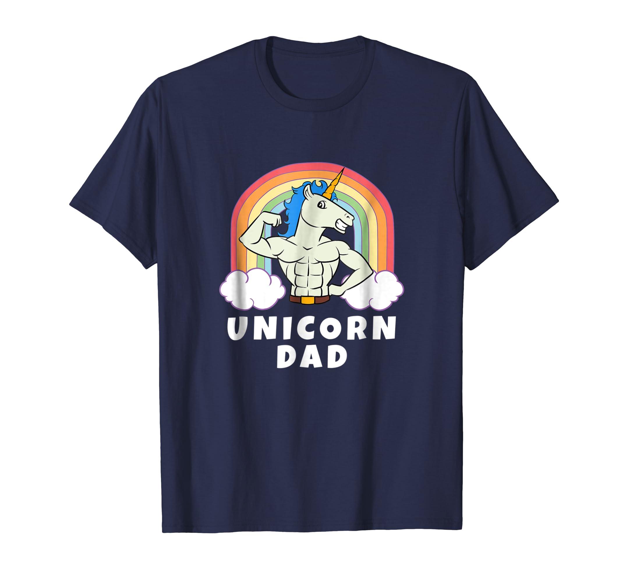 43a02e85 Amazon.com: Mens Unicorn Dad Shirt | Funny Birthday Daddy Gift T-Shirt:  Clothing