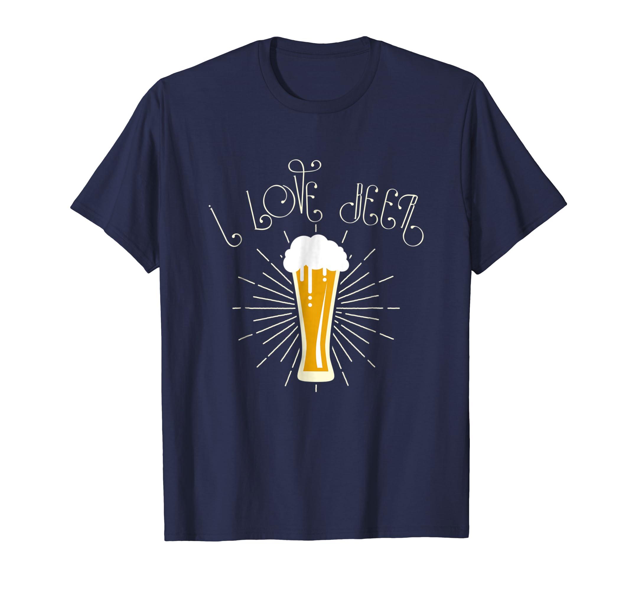 'I Love Beer' International Beer Day Drinking Beer Shirt-AZP