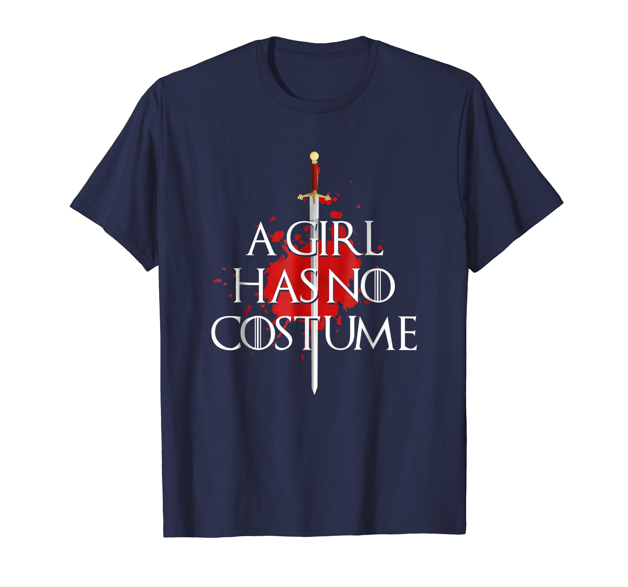 A Girl Has No Costume Funny Halloween Costume Needle Blood-azvn