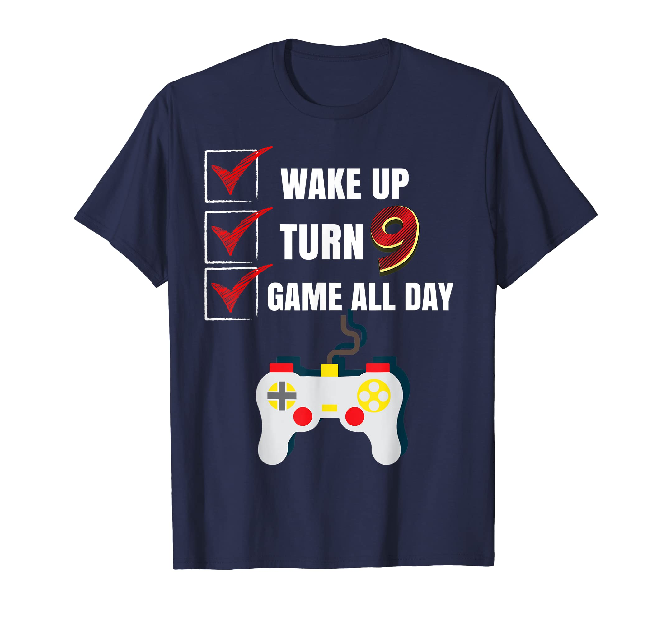 Amazon 9 Yr Old Game All Day Gamer Birthday Party Shirt Outfit Gift Clothing