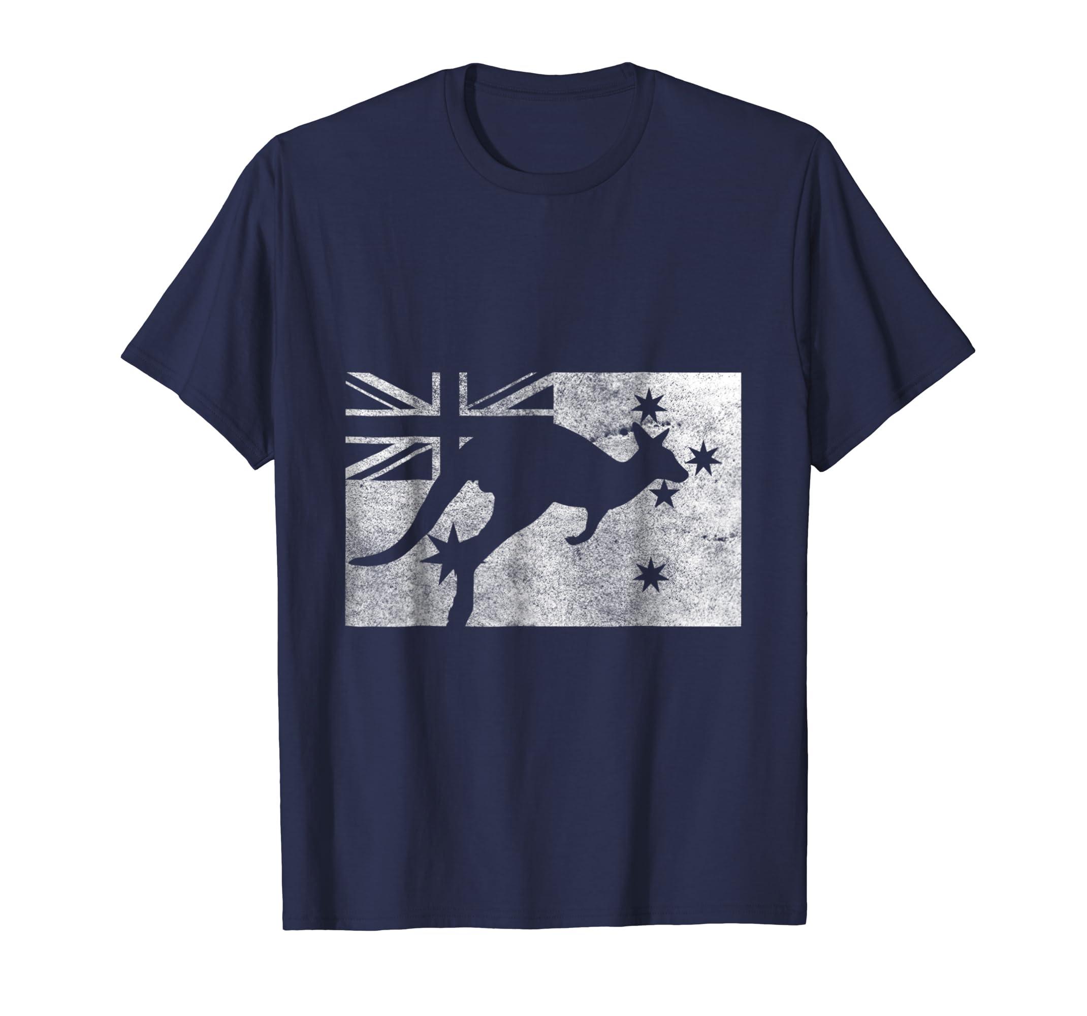 Australia Flag Kangaroo T-Shirt-AZP
