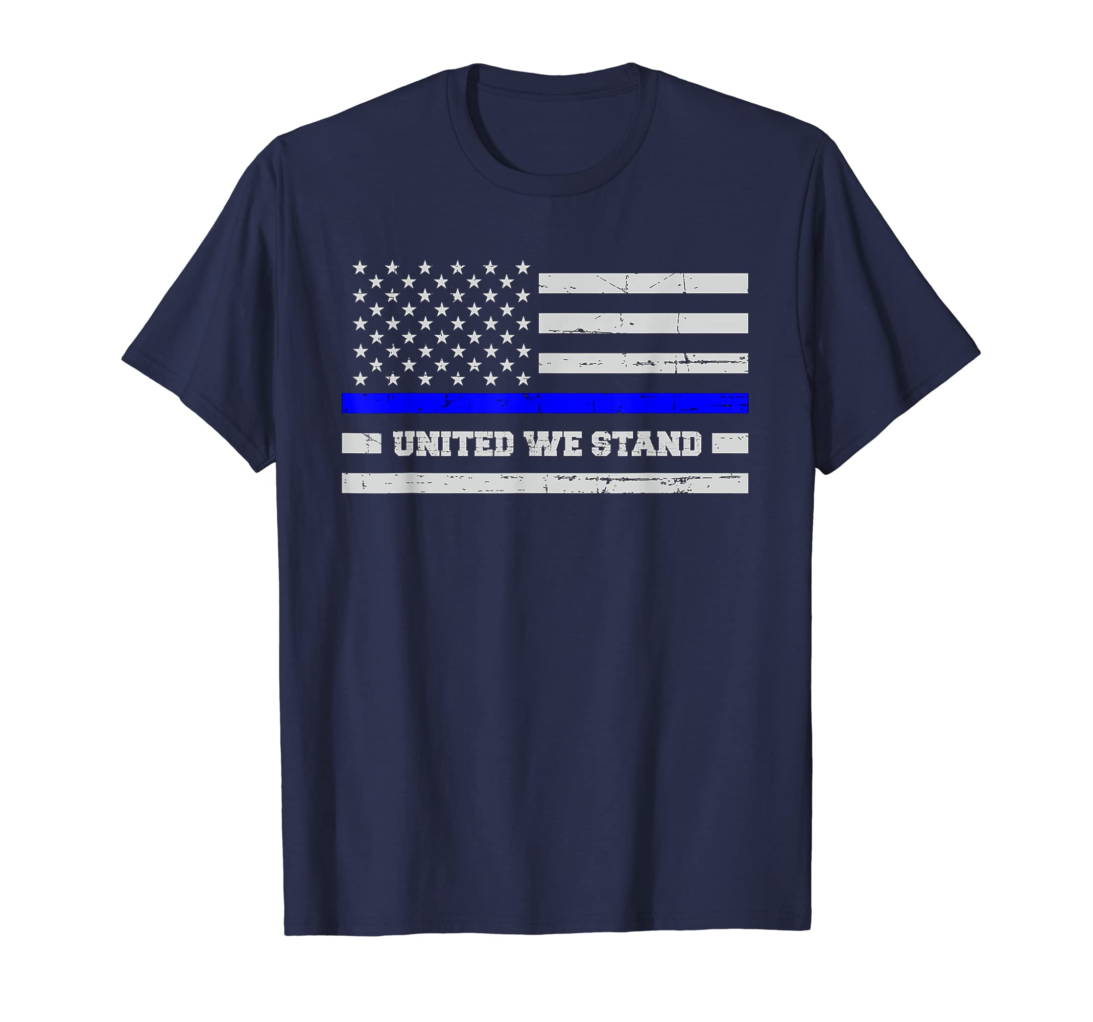 b4a78a7a Amazon.com: Thin Blue Line Flag Shirt for Women & Men United We Stand:  Clothing