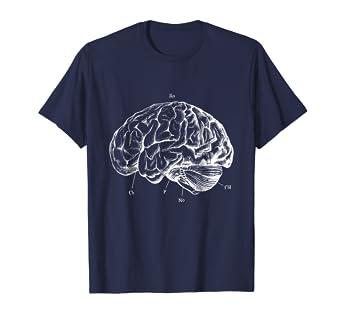 Amazon.com: Human Brain Shirt Vintage Anatomy Skull X-Ray Graphic ...