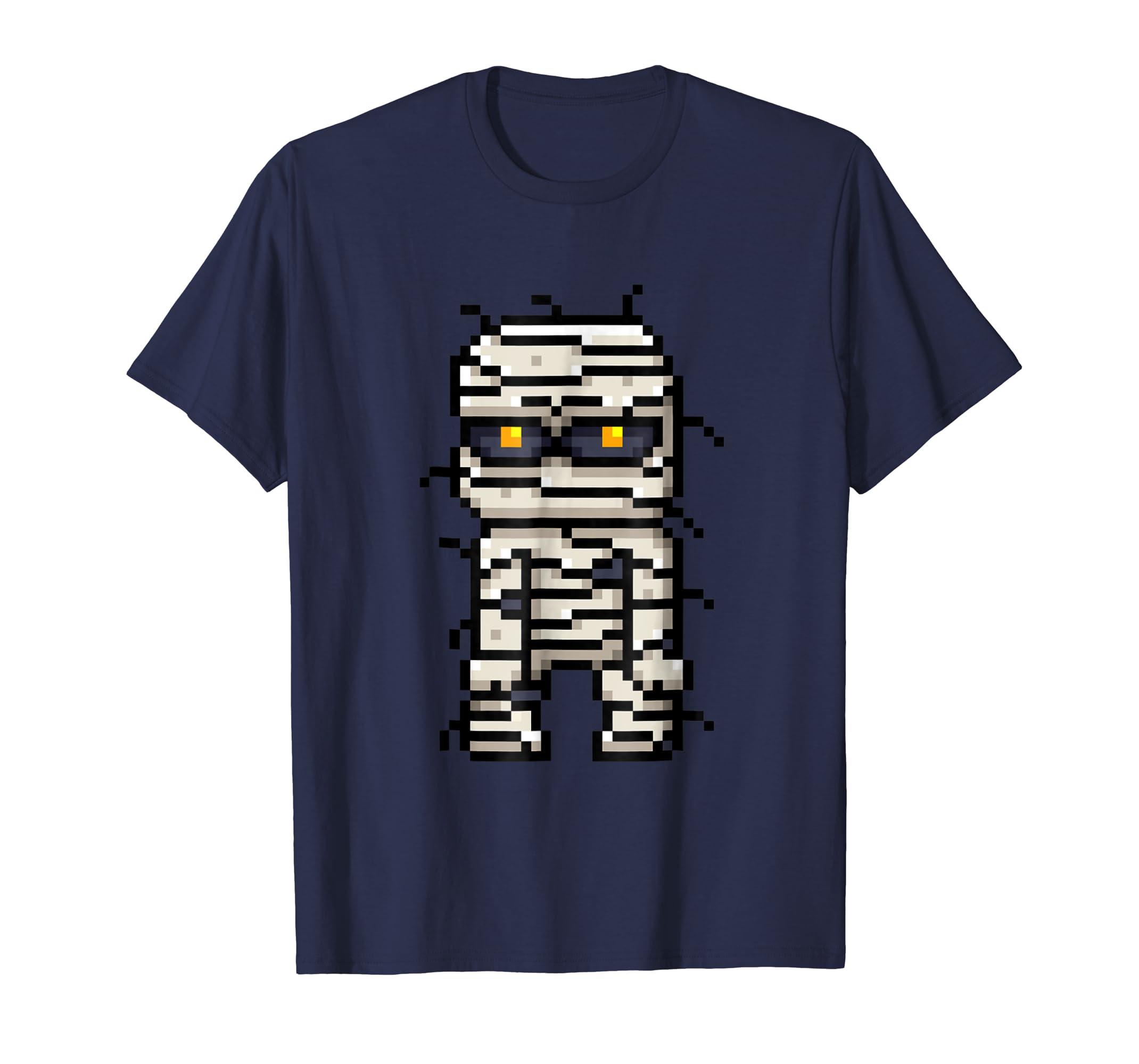 Pixel Mummy Art Graphic Shirt Gift For Boys Girls Kids-mt
