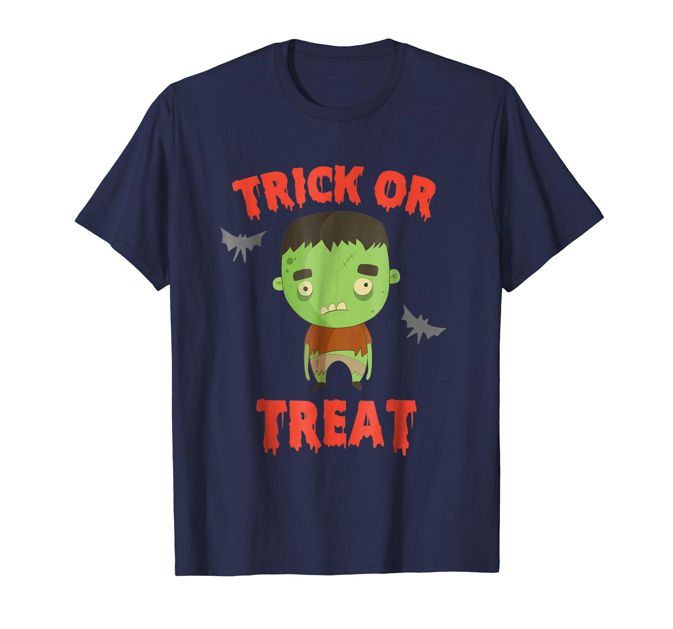 Cute halloween boys monster shirt - trick or treat- TPT