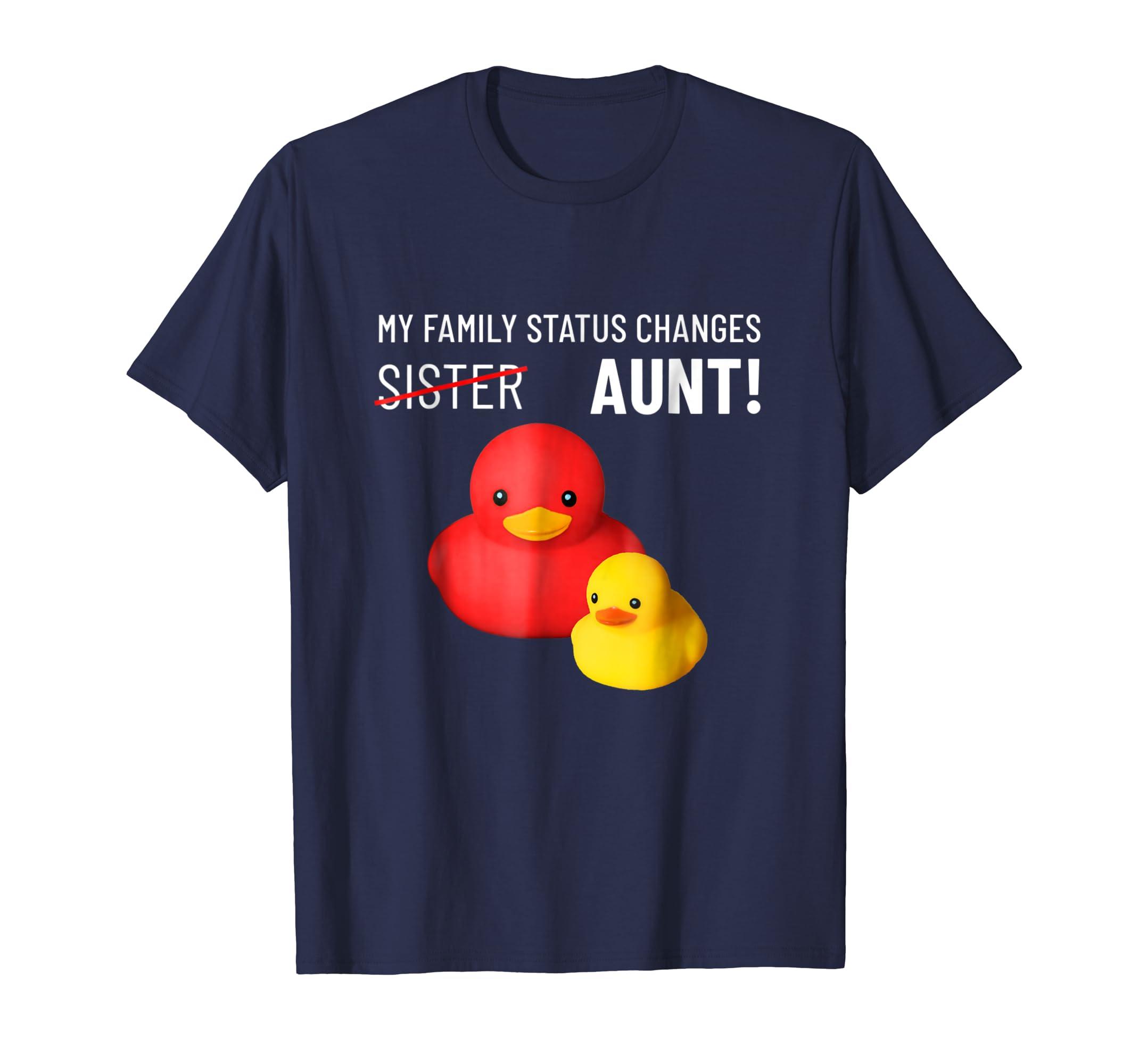 aunt t shirt funny baby announcement cute rubber ducks-ln