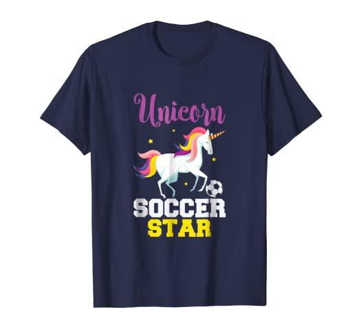 Unicorn Soccer Star T Shirt