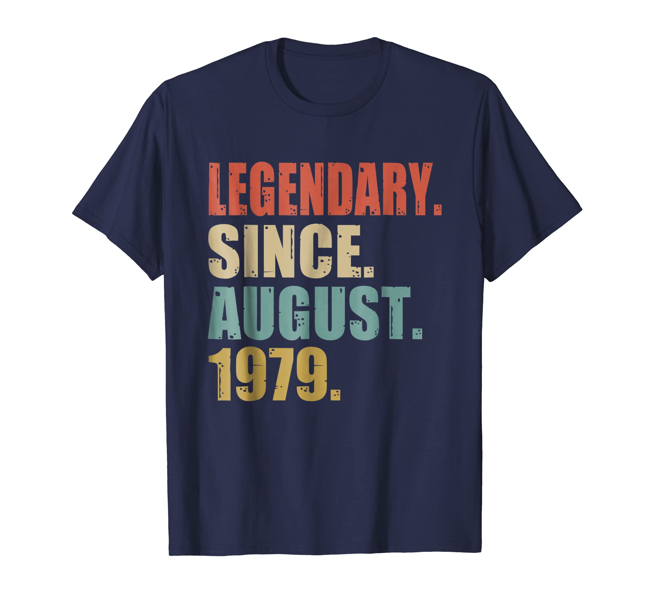 39th Birthday Gifts Retro Legendary Since August 1979 Shirt-Awarplus