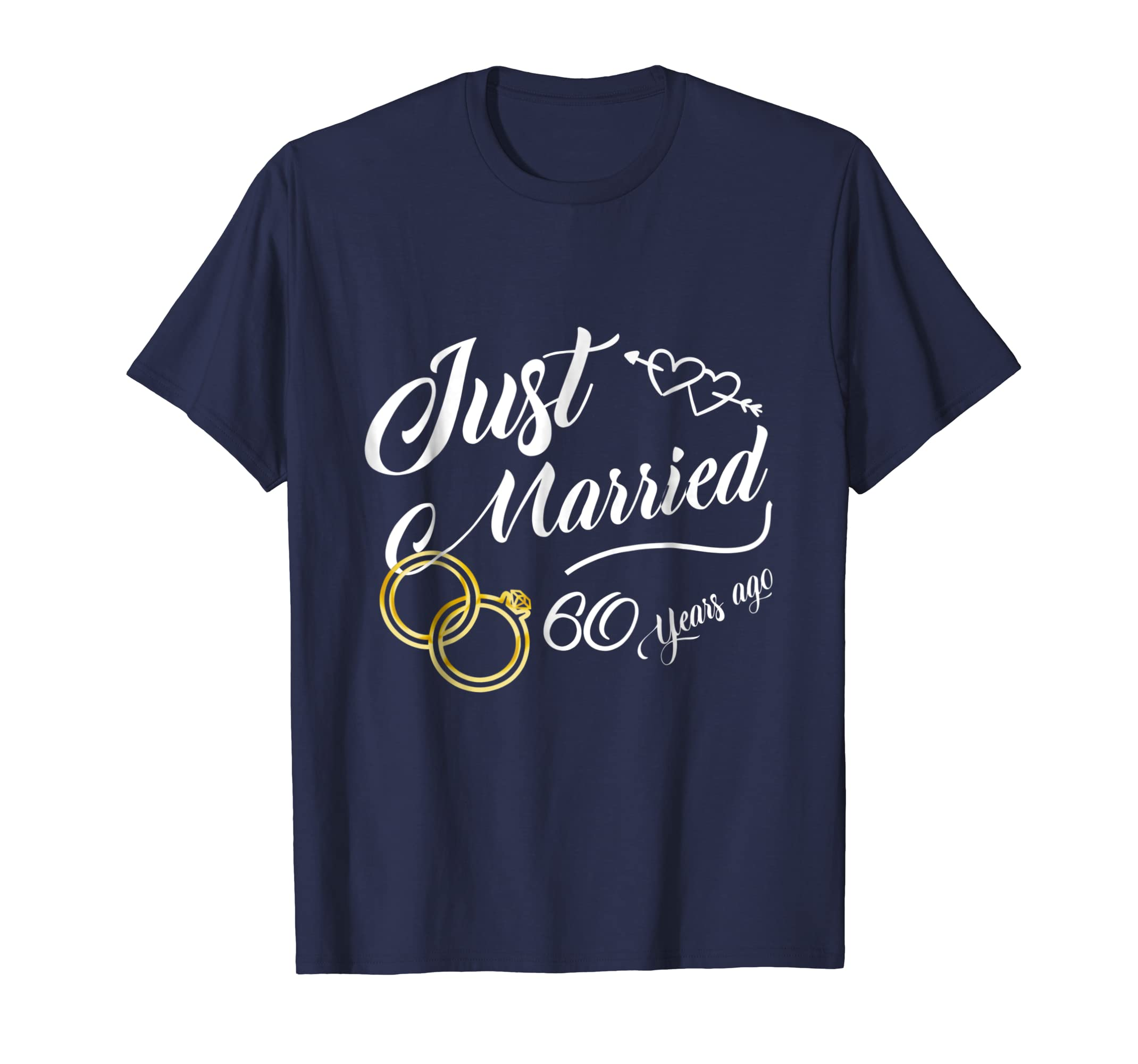 60th wedding anniversary Shirt   Just Married 60 Years T-Awarplus