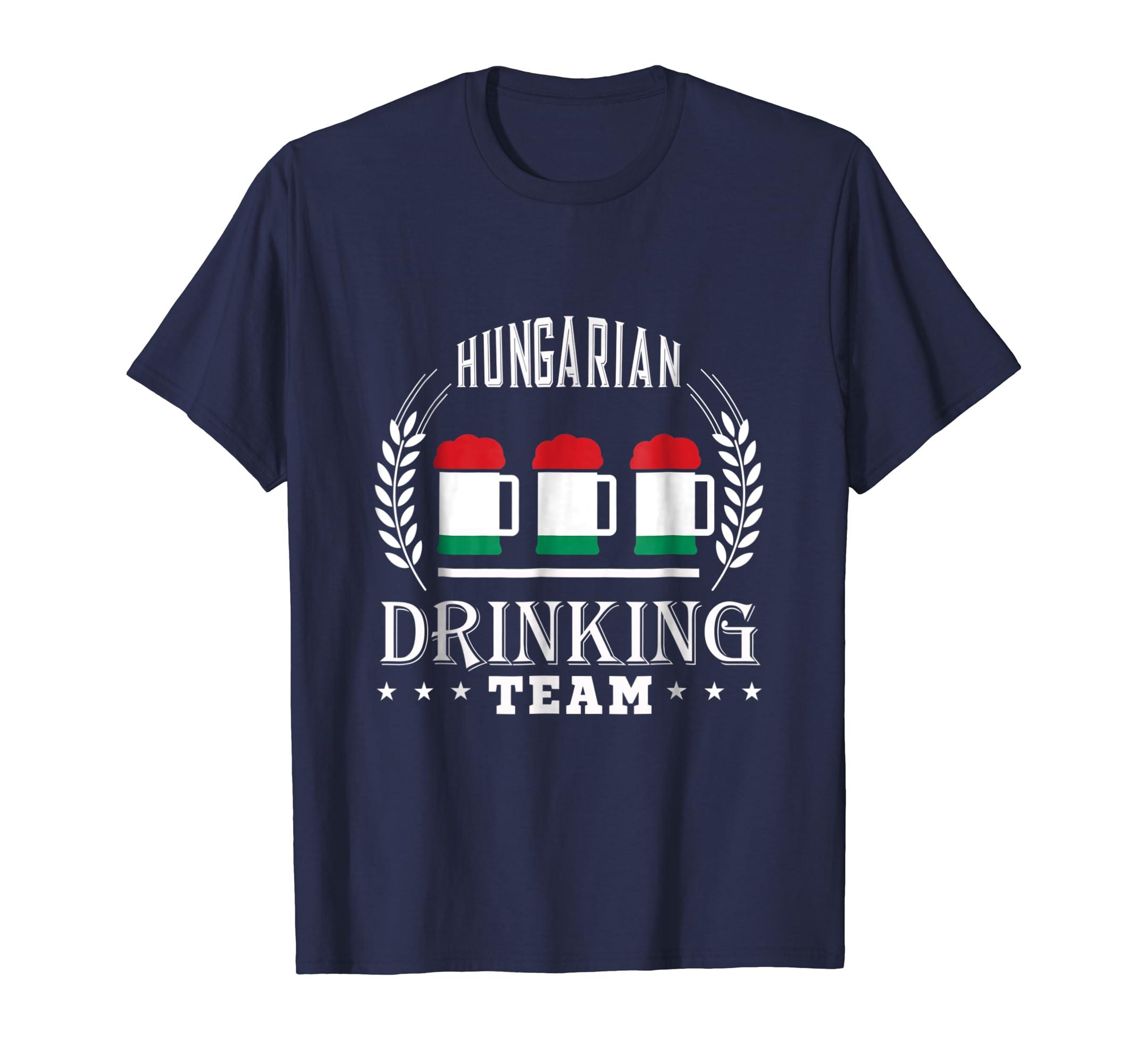 Beer Hungarian Drinking Team Casual Hungary Flag T Shirt-Awarplus