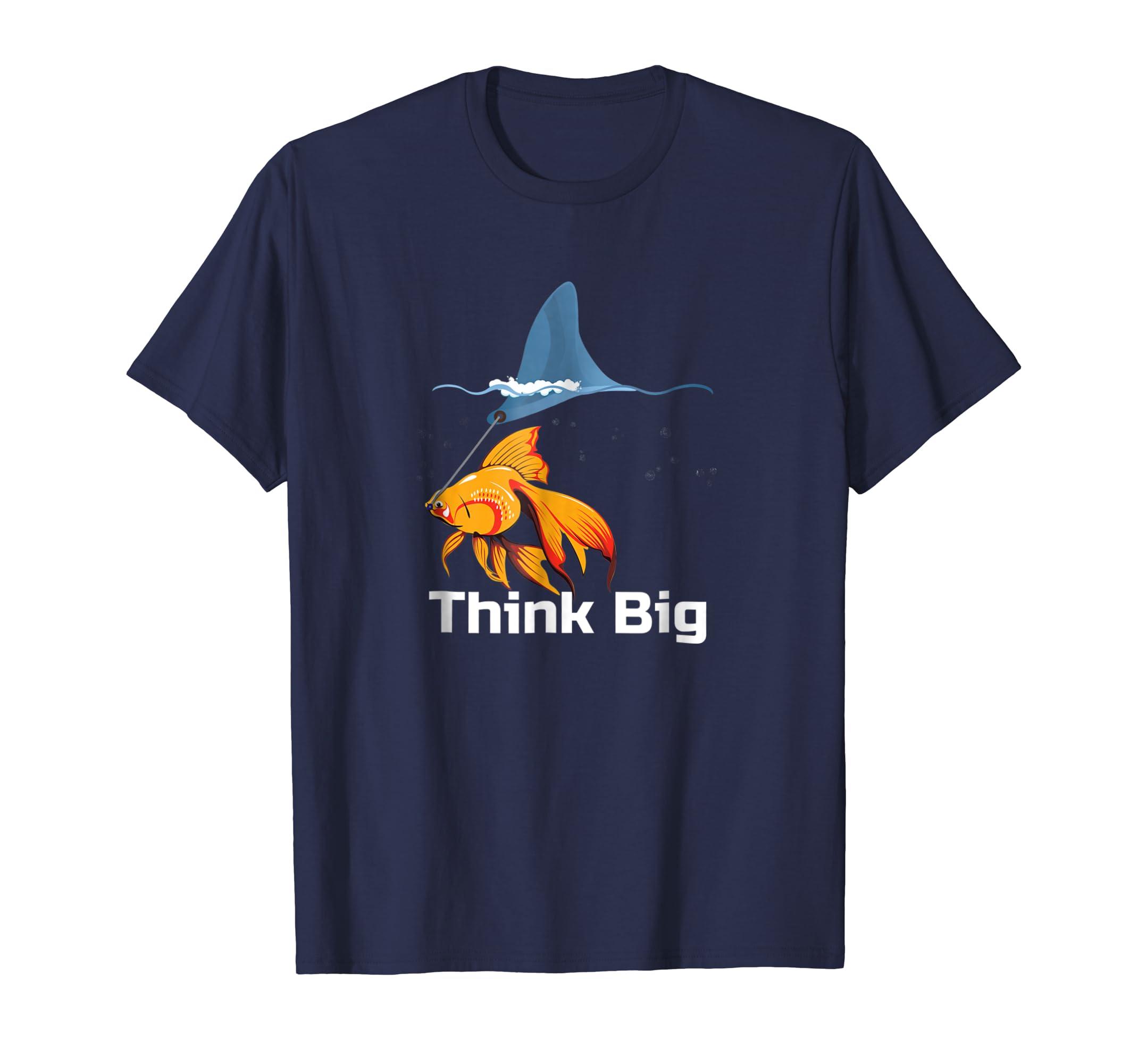 Goldfish Shark Fin Tshirt Funny Fishkeeper TShirt-Awarplus