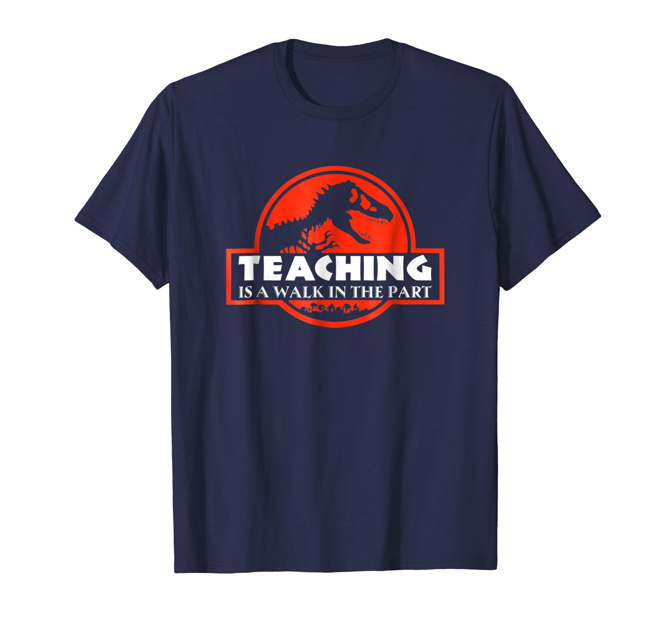 Saurus Teacher Walk The Park Cool Cute Shirt-azvn