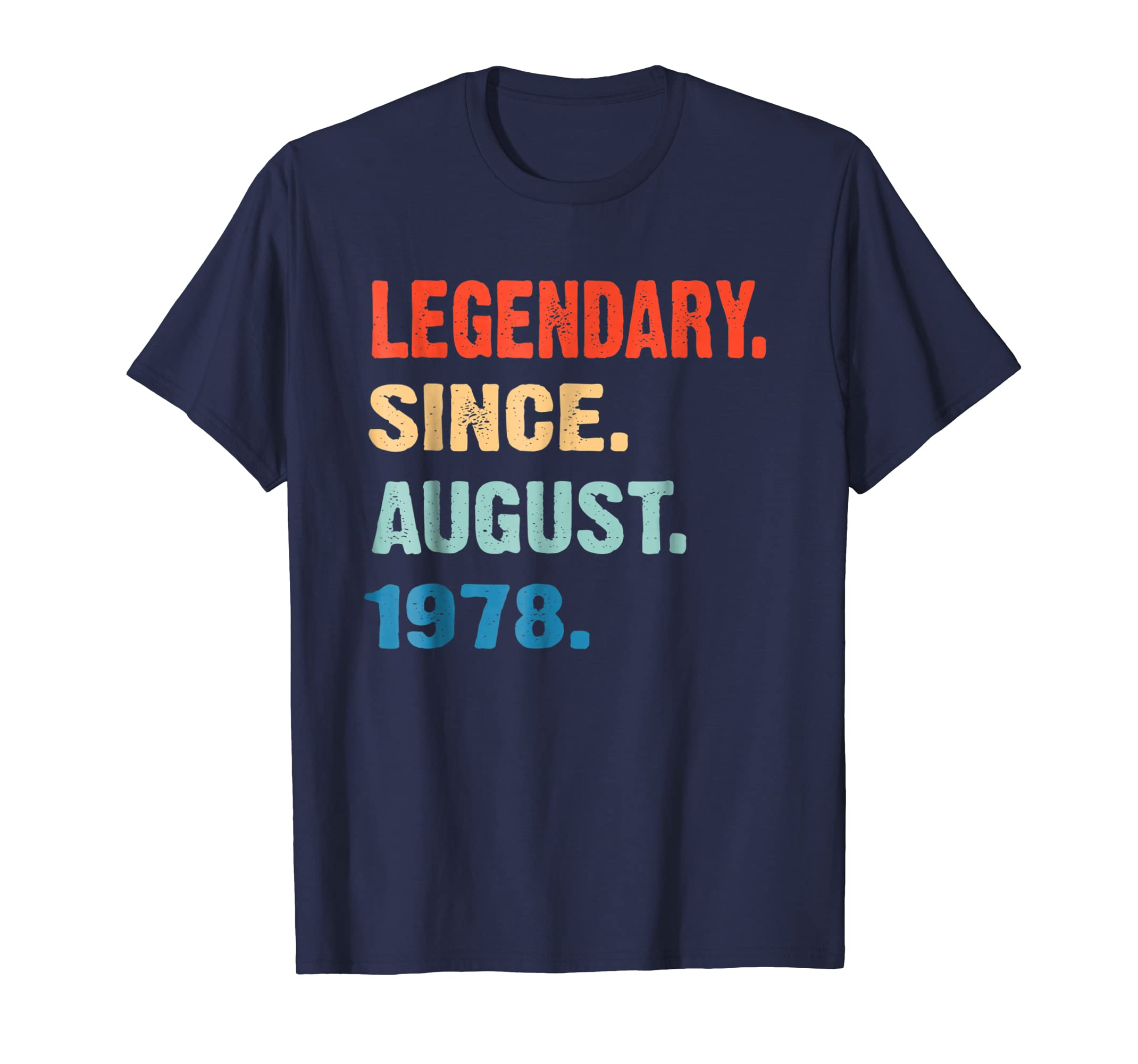 August 1978 Retro Vintage 40th Birthday T Shirt Decorations-Awarplus